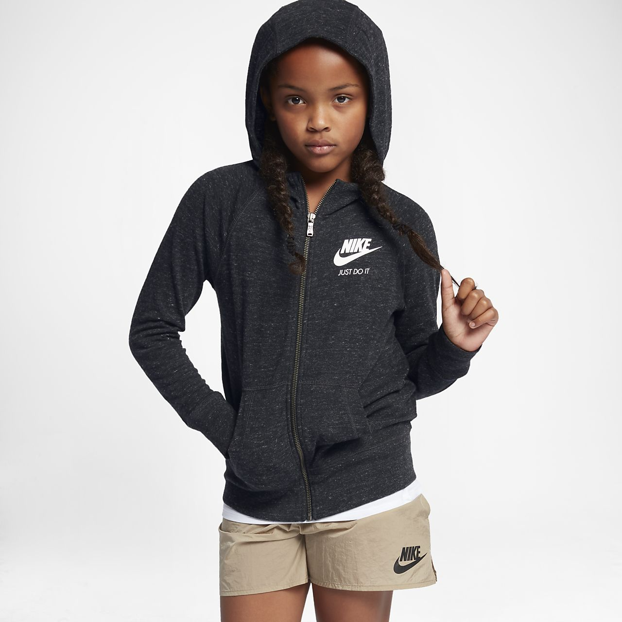 Nike Sportswear Gym Vintage Big Kids' (Girls') Hoodie