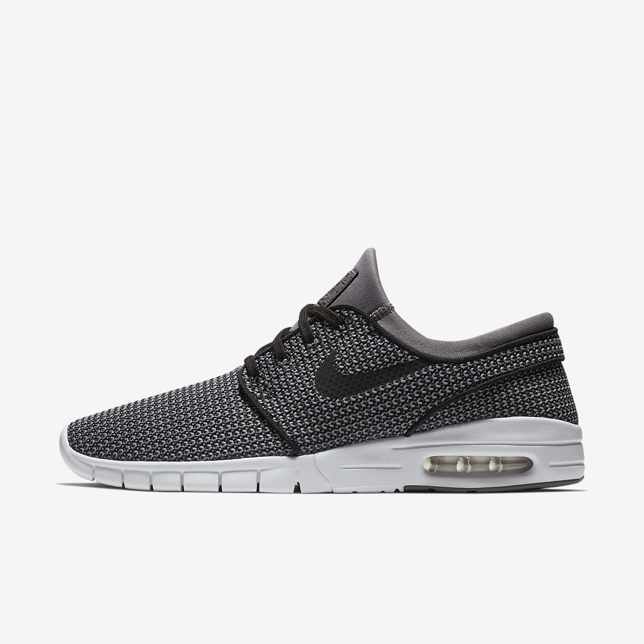 Nike SB Stefan Janoski Max L Men's Lifestyle Shoes Black/White aL2695V
