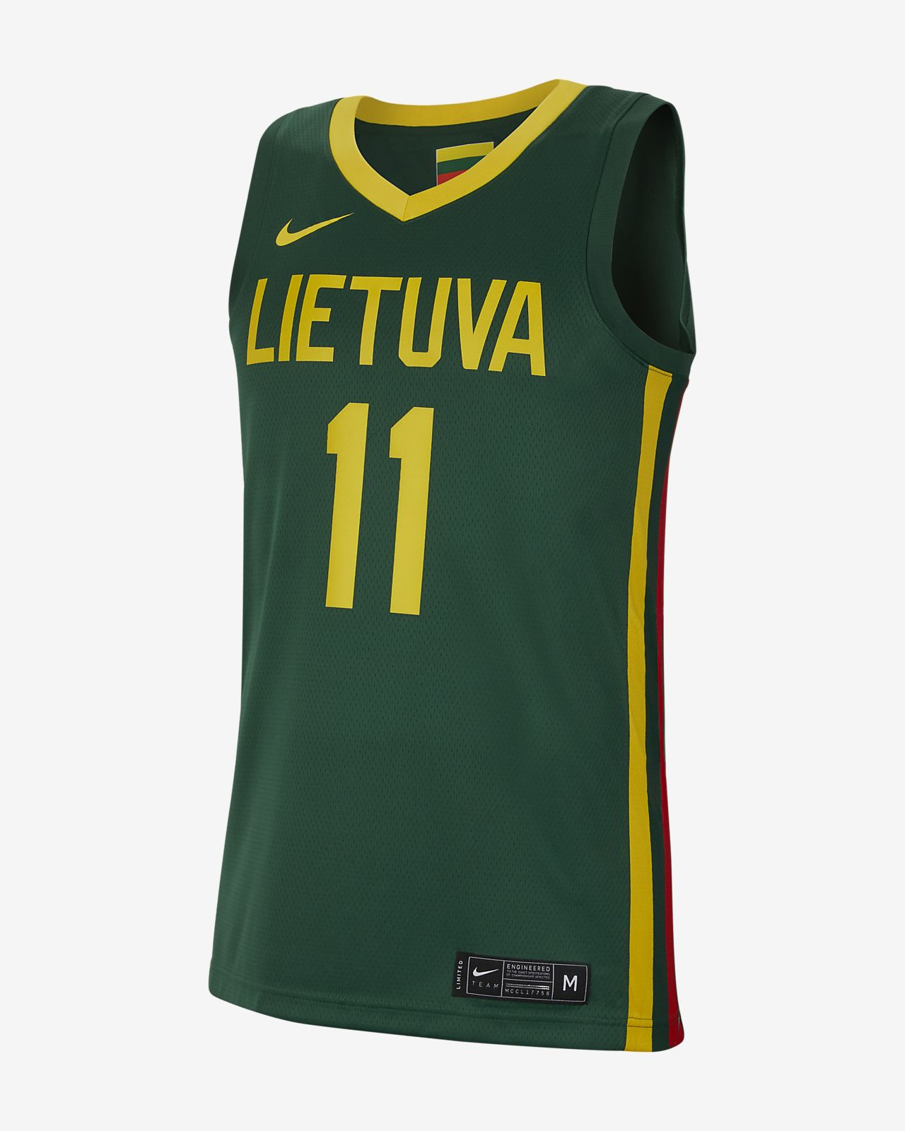 Lithuania Nike (Road) Basketbaljersey voor heren