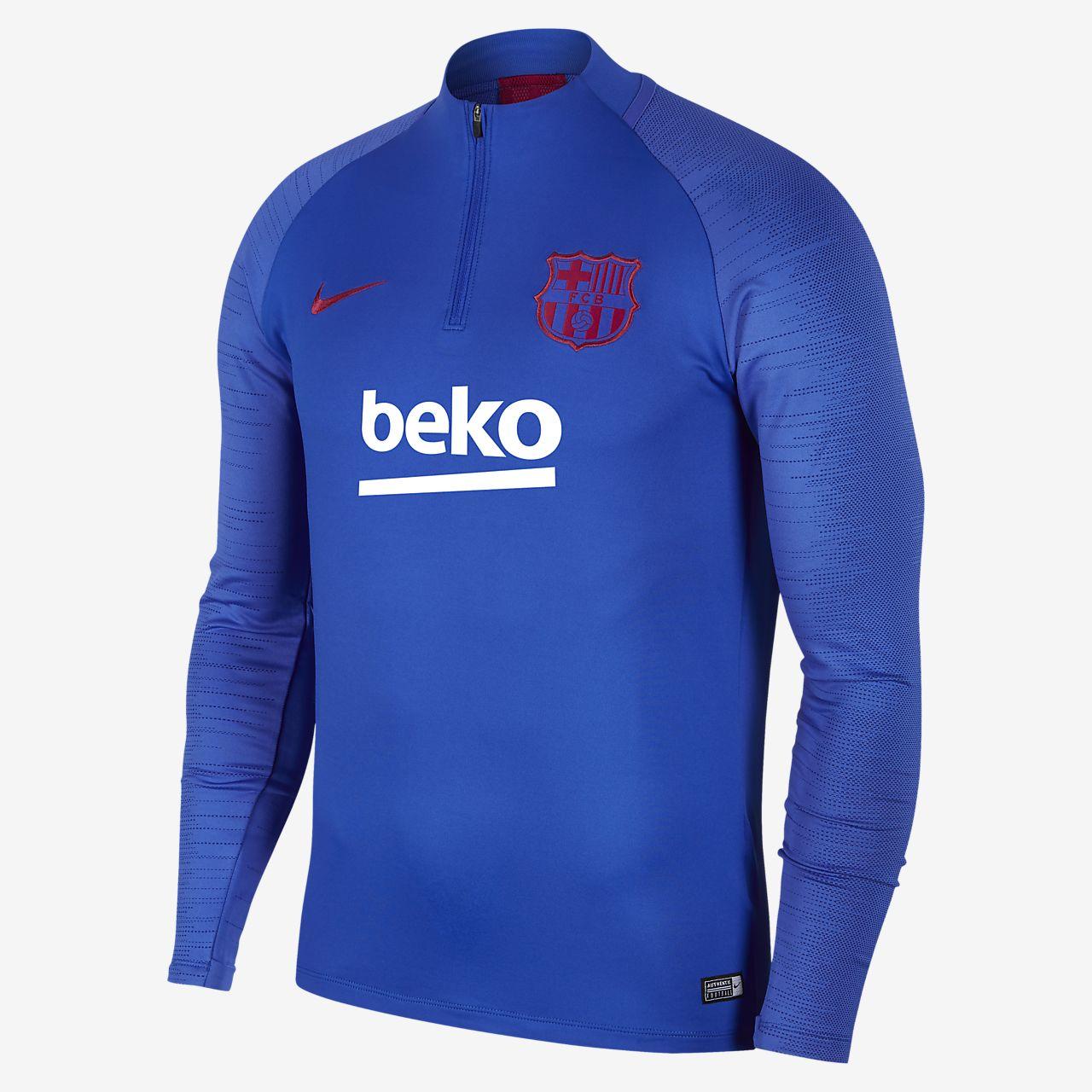 Ανδρική ποδοσφαιρική μπλούζα προπόνησης Nike Dri-FIT FC Barcelona Strike