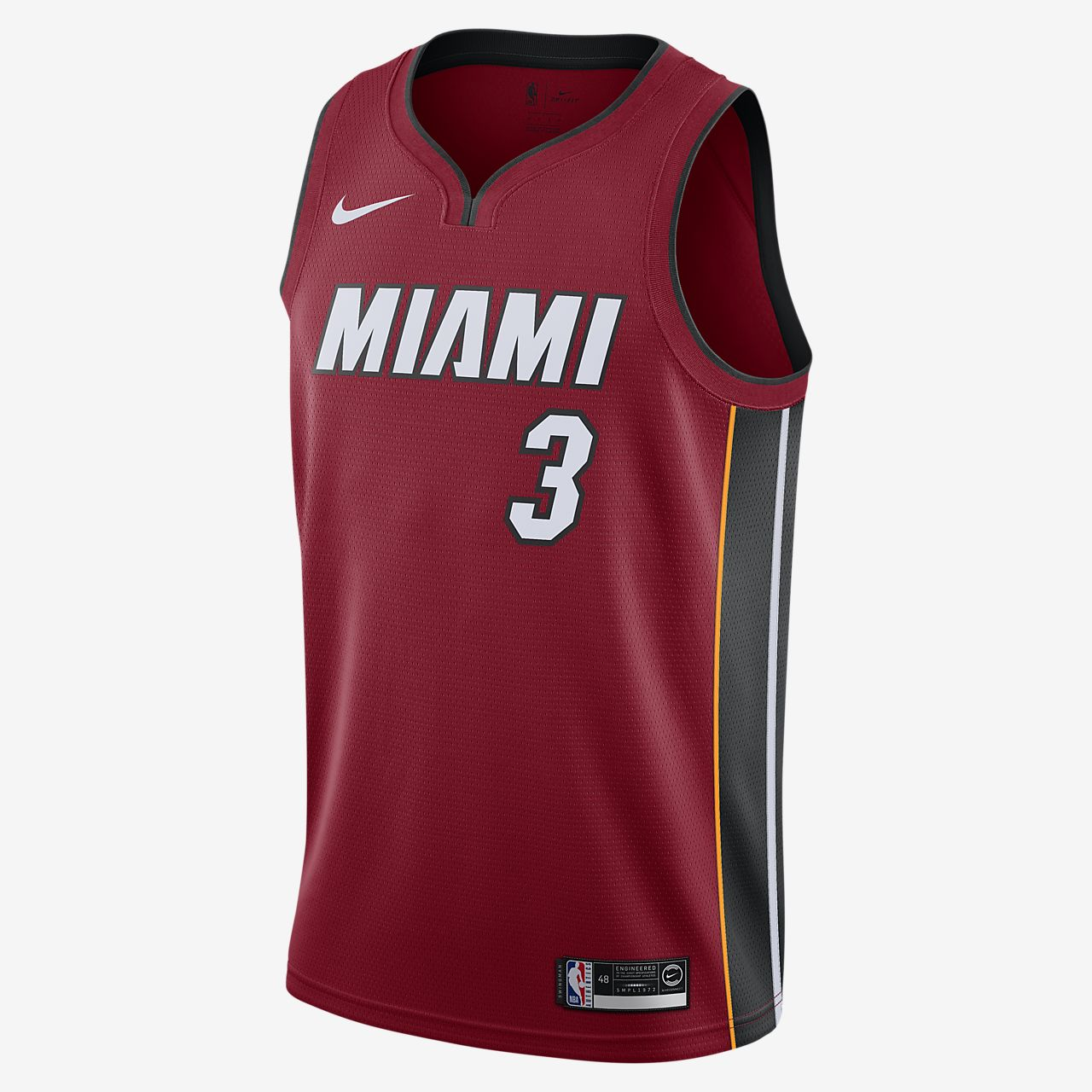 Camiseta Nike NBA Swingman Dwyane Wade Heat Statement Edition