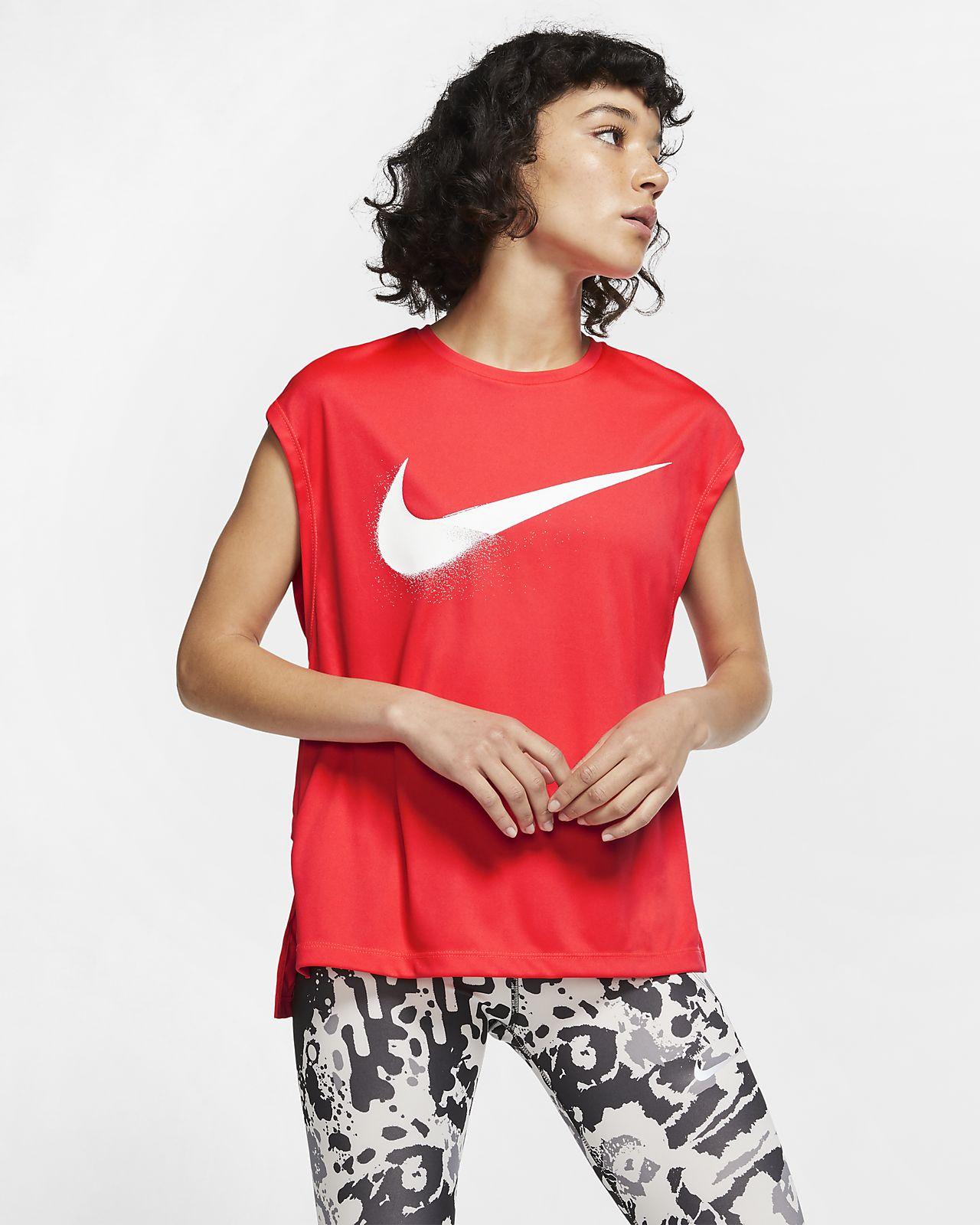 Haut de running à motifs Nike Dri-FIT pour Femme
