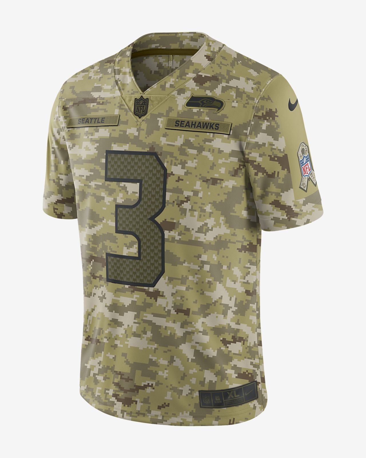28f3cdf03 NFL Seattle Seahawks Salute to Service Limited Jersey (Russell Wilson)
