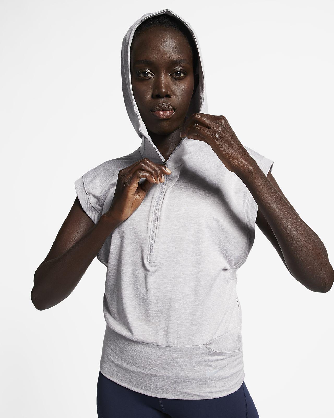 Nike Element 女款無袖跑步連帽上衣