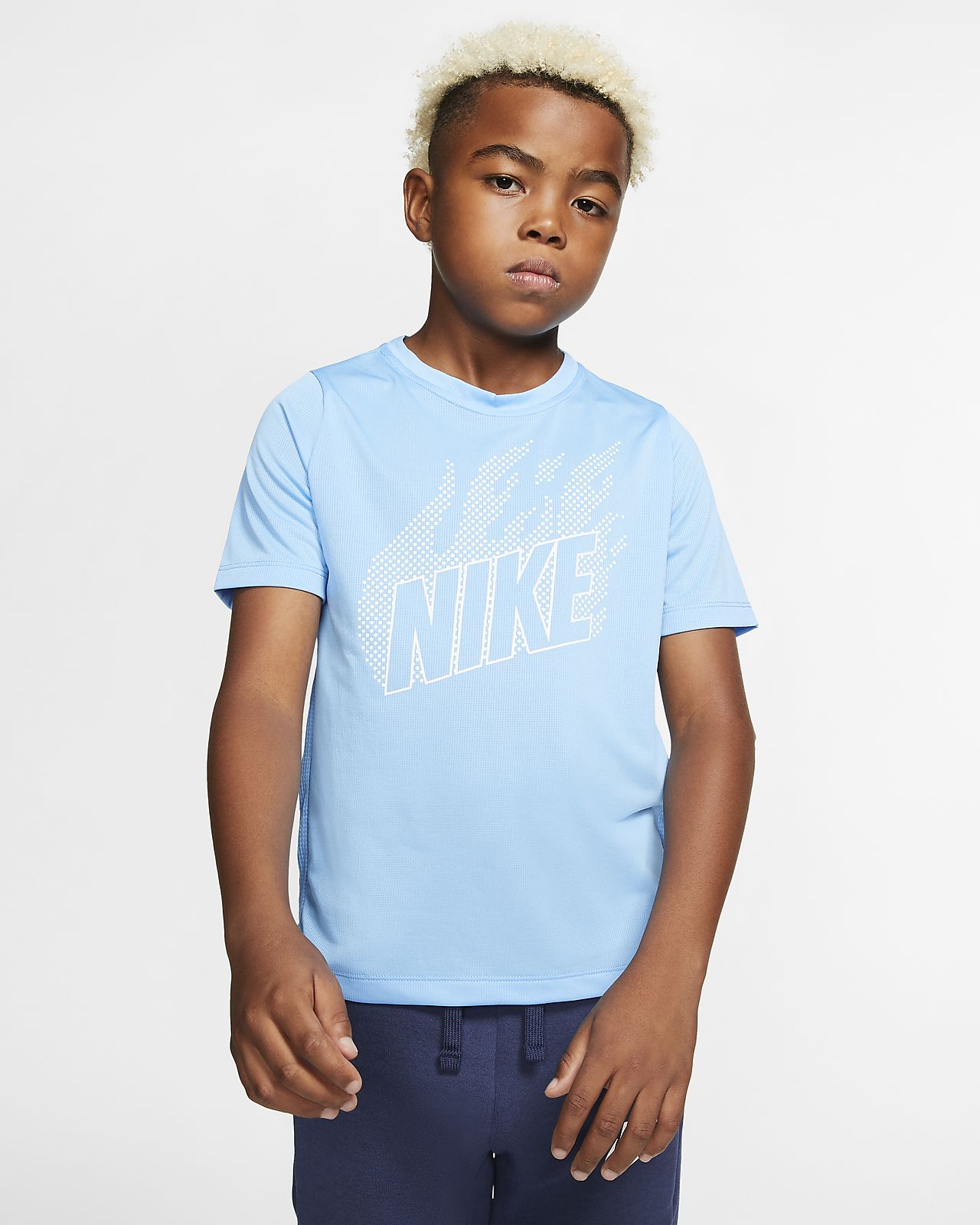 Nike Older Kids' (Boys') Short-Sleeve Graphic Training Top