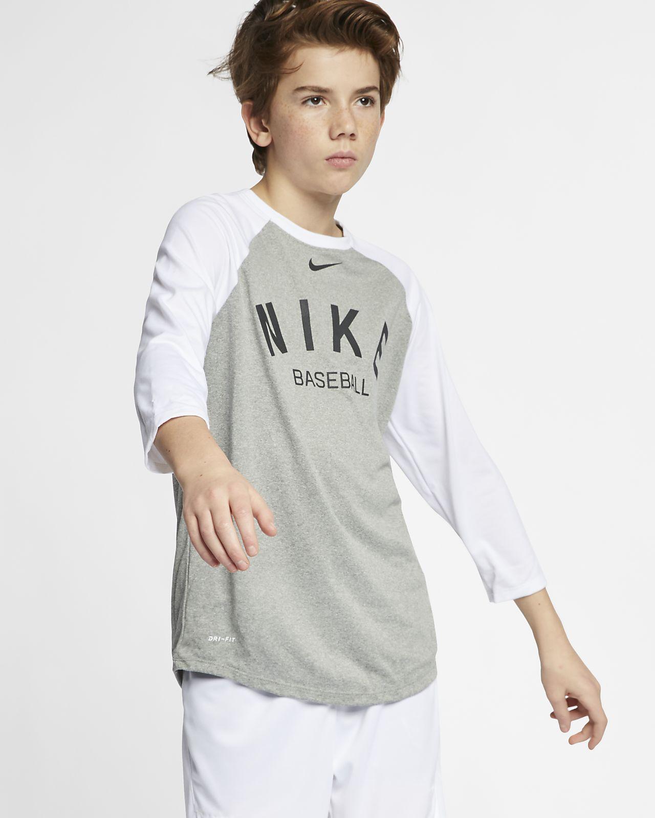 174ccdfea Nike Dri-FIT Big Kids' (Boys') 3/4-Sleeve Baseball T-Shirt. Nike.com