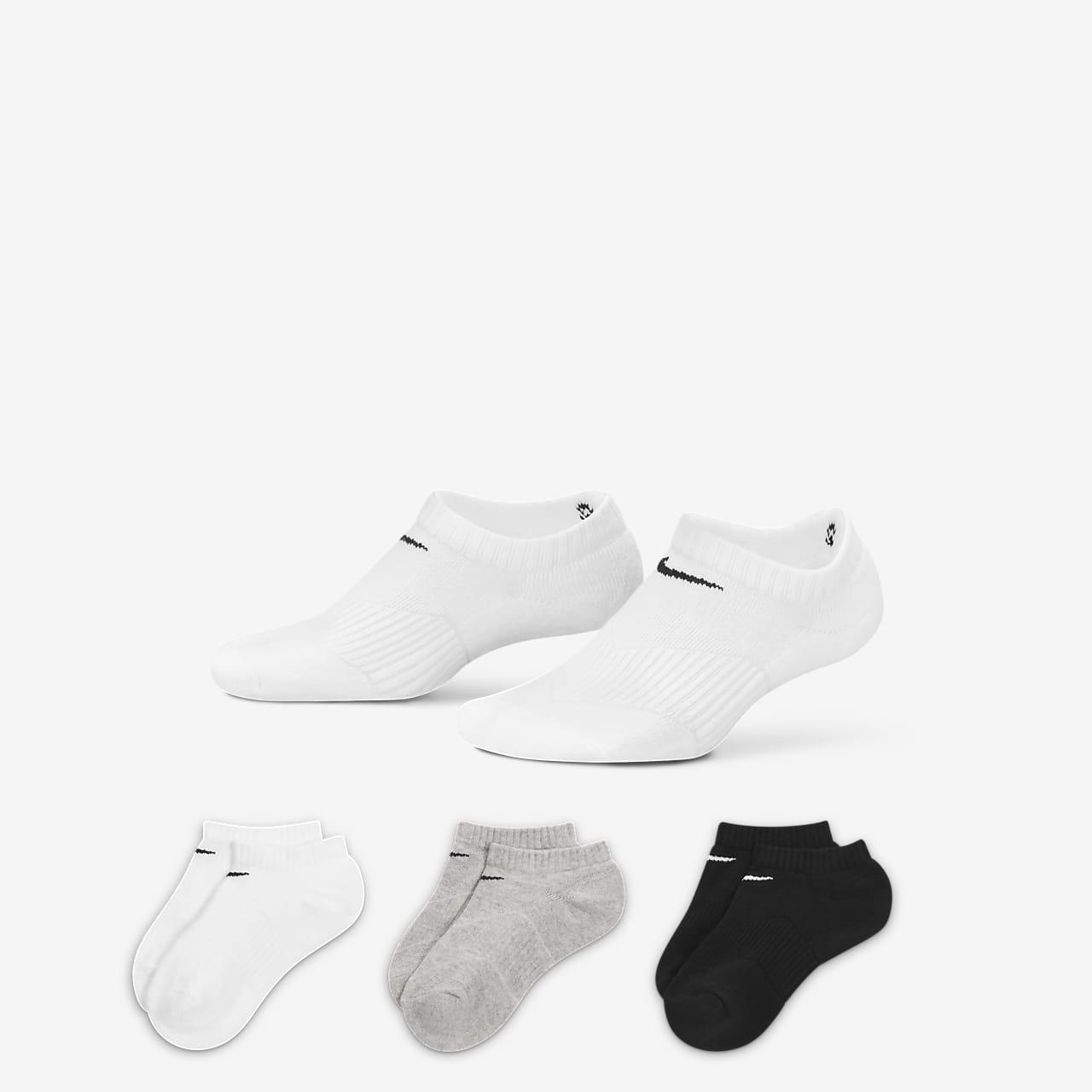 Nike Performance Cushion No-Show Older Kids' Socks (3 Pair)