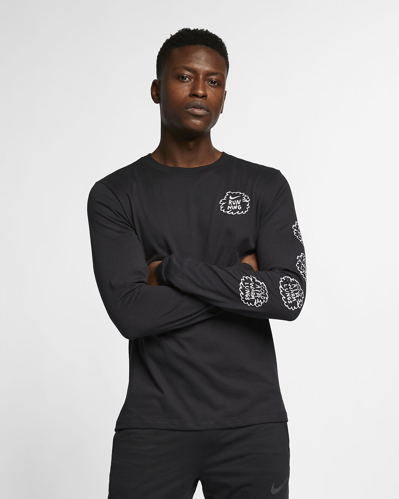 Pour À Longues Nike Dri Tee Homme Fit Nathan Bell Running Shirt De Manches EIW2YDH9