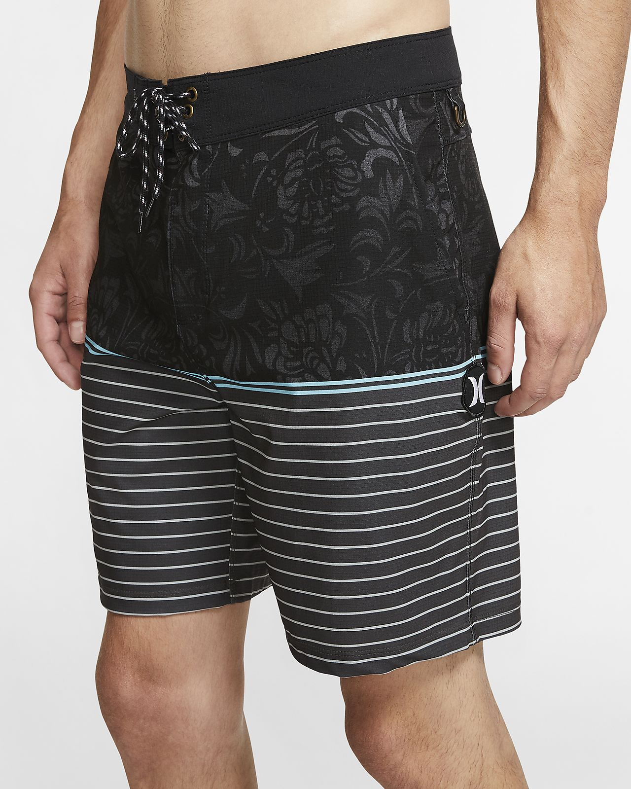 "Hurley Phantom Beachside Dead Flowers Men's 18"" Board Shorts"