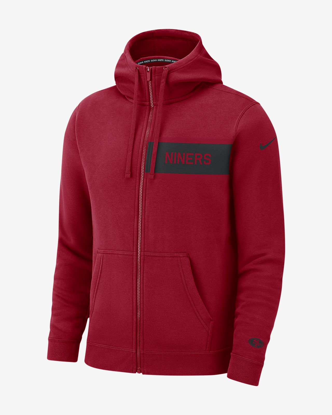 da48857879c8 Nike (NFL 49ers) Men s Club Fleece Full-Zip Hoodie. Nike.com ZA