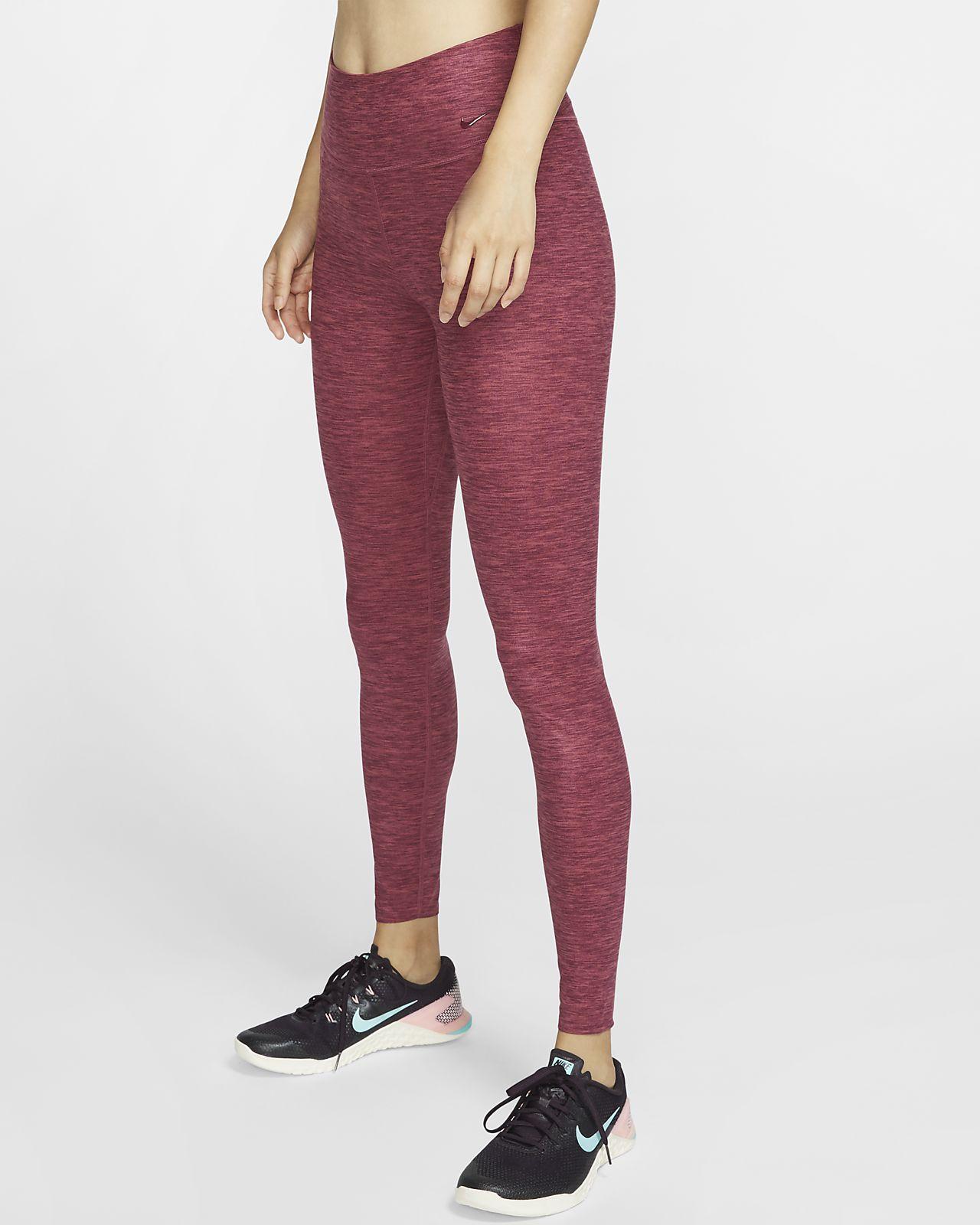 Женские тайтсы из меланжевой ткани Nike One Luxe