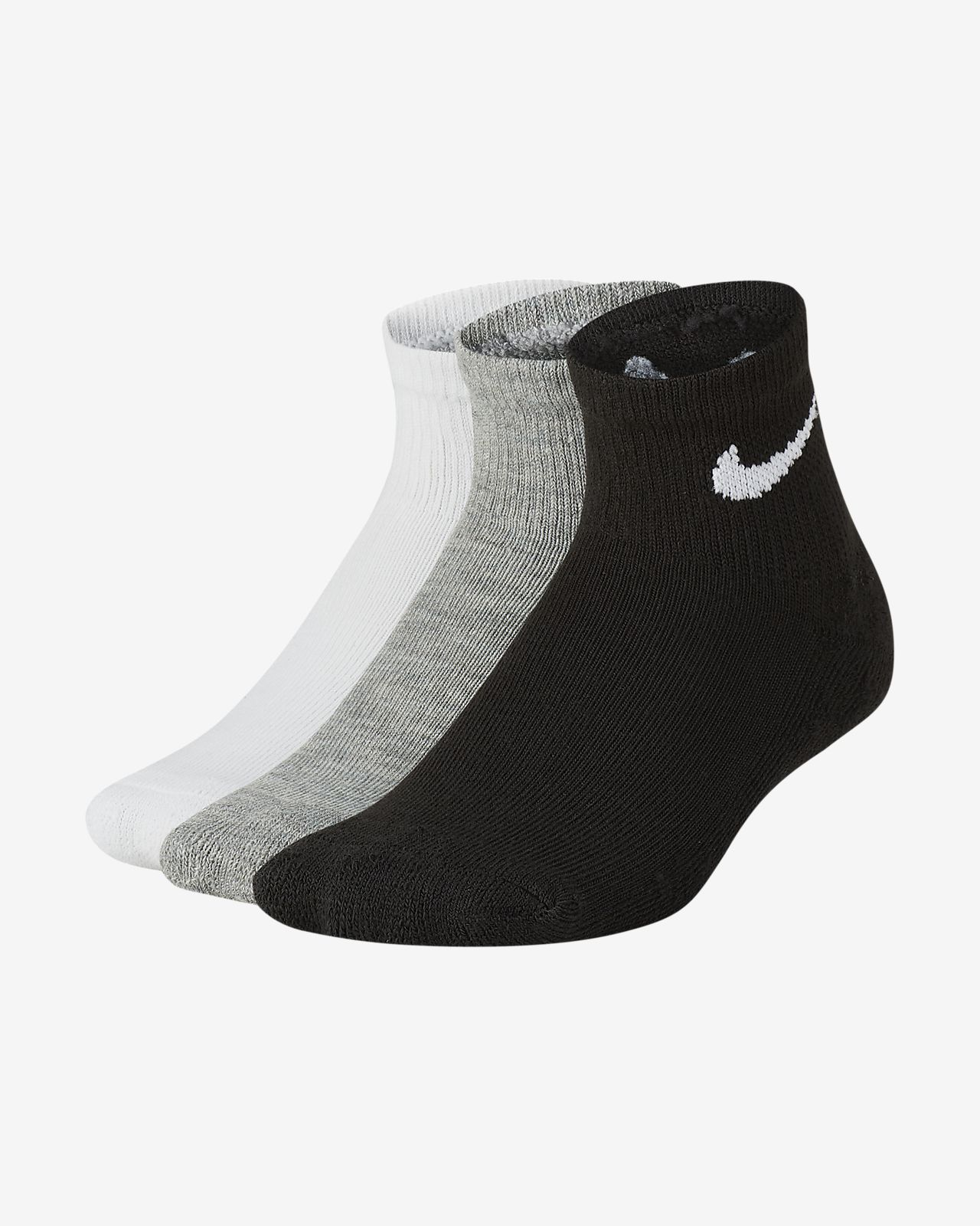 Nike Younger Kids' Cushioned Ankle Socks (3 Pairs)