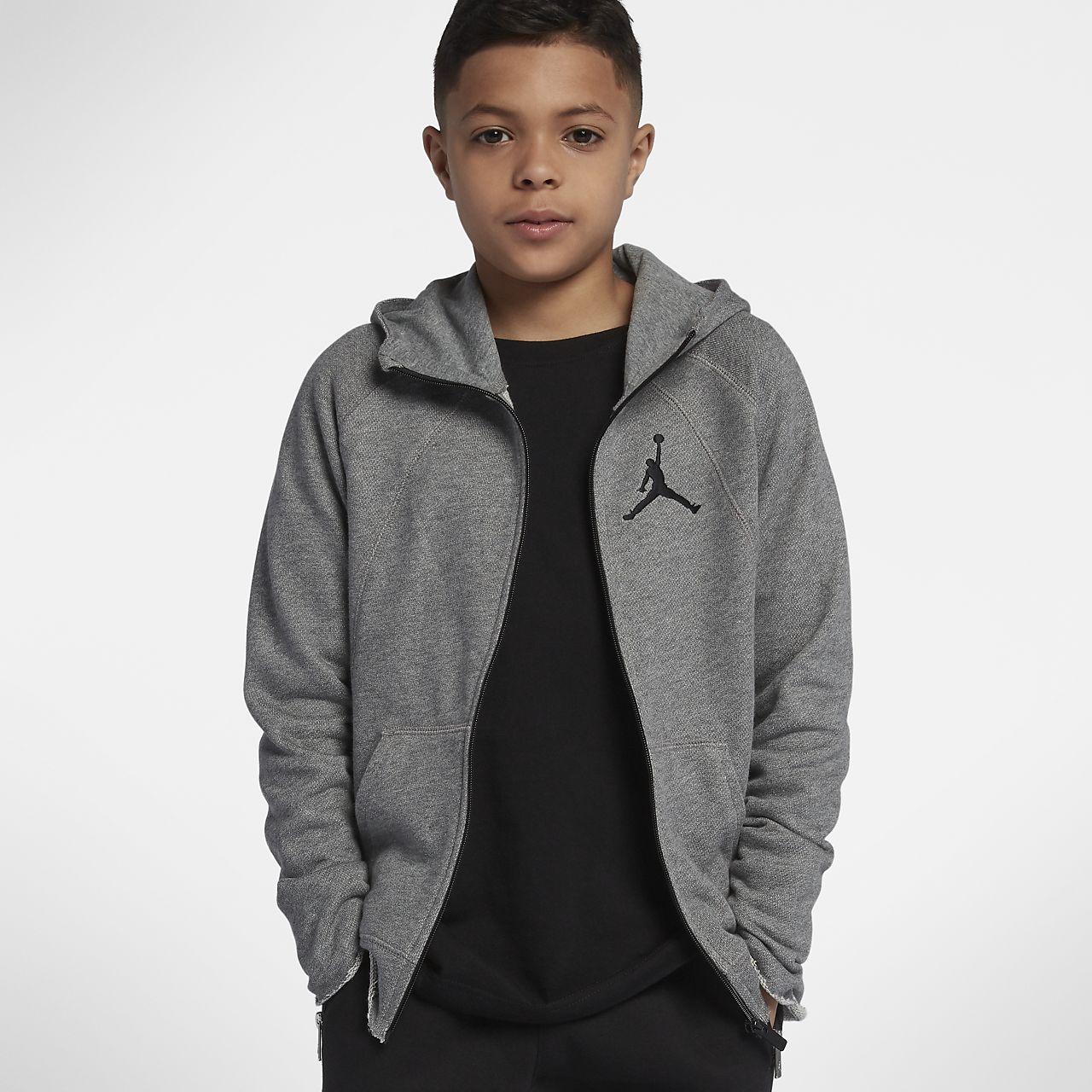 9a9ed80d393 ... Jordan Sportswear Wings Lite Older Kids' (Boys') Full-Zip Hoodie