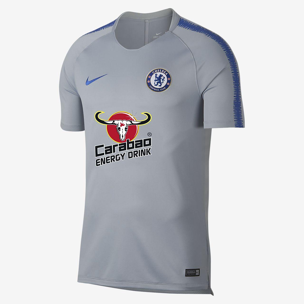 Nike Breathe Chelsea FC Squad Kurzarm-Fußballoberteil für Herren