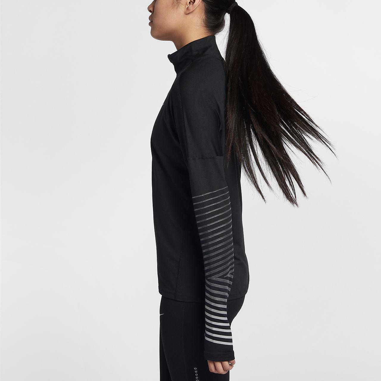 42f9e84ff6d5 ... Nike Dri-FIT Element Flash Women s Reflective Long-Sleeve Running Top