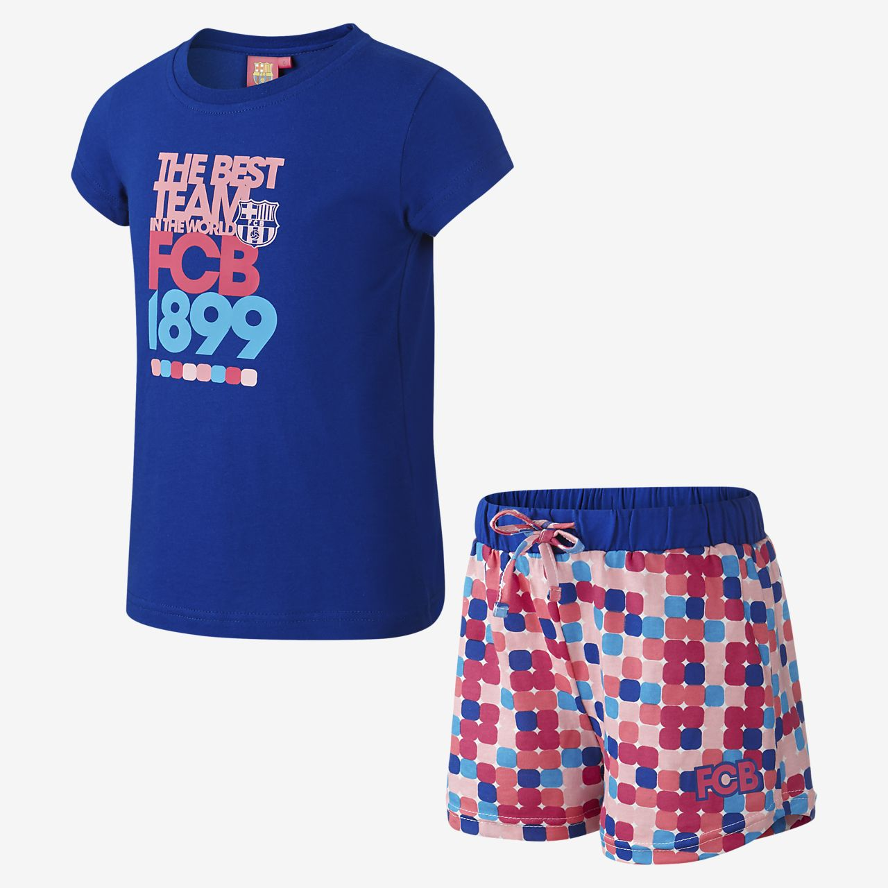 23b80e09678f8 FC Barcelona Two-Piece Pijama - Niña pequeña. Nike.com ES