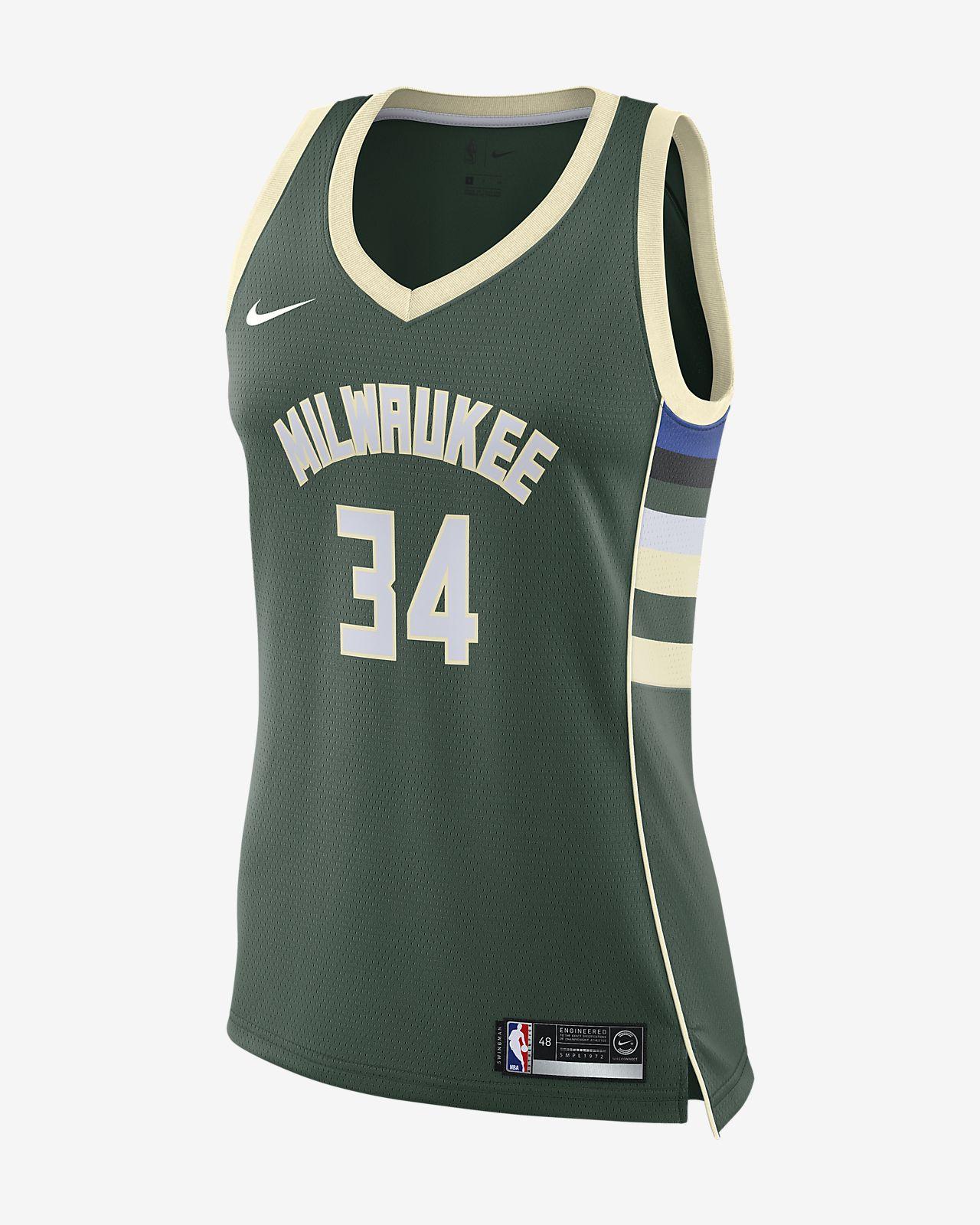Women s Nike NBA Connected Jersey. Giannis Antetokounmpo Icon Edition  Swingman (Milwaukee Bucks) 233b08cc6