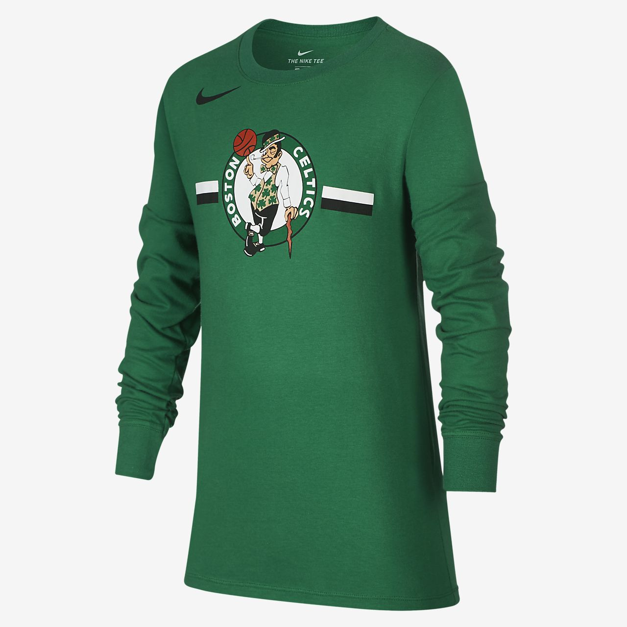 波士顿凯尔特人队 Nike Dri-FITNBA 大童(男孩)长袖T恤