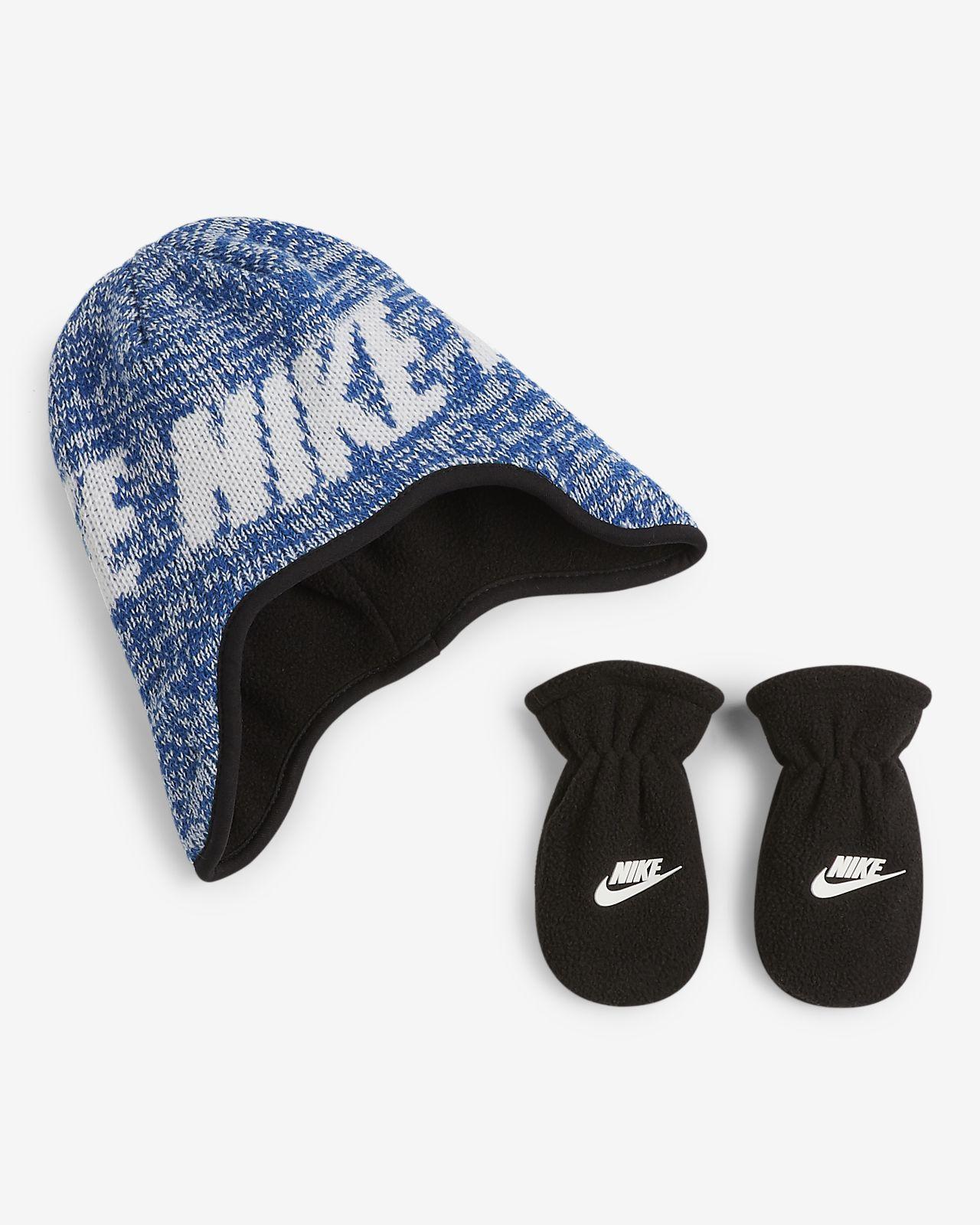 Dwuczęściowy zestaw – czapka i rękawiczki – dla maluchów Nike