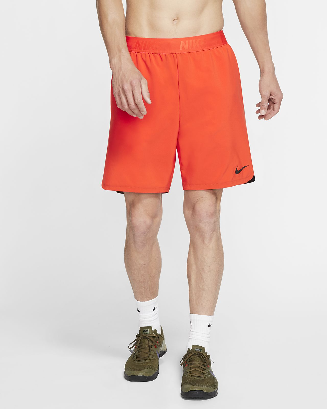 Details about NWT NIKE Men's Washed Fleece Shorts Orange Gray Rare Colors! $50!