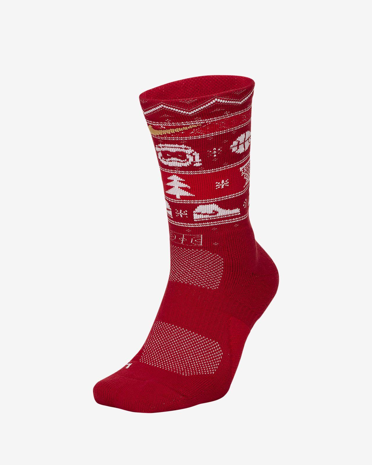Nike Elite Christmas Crew Socks