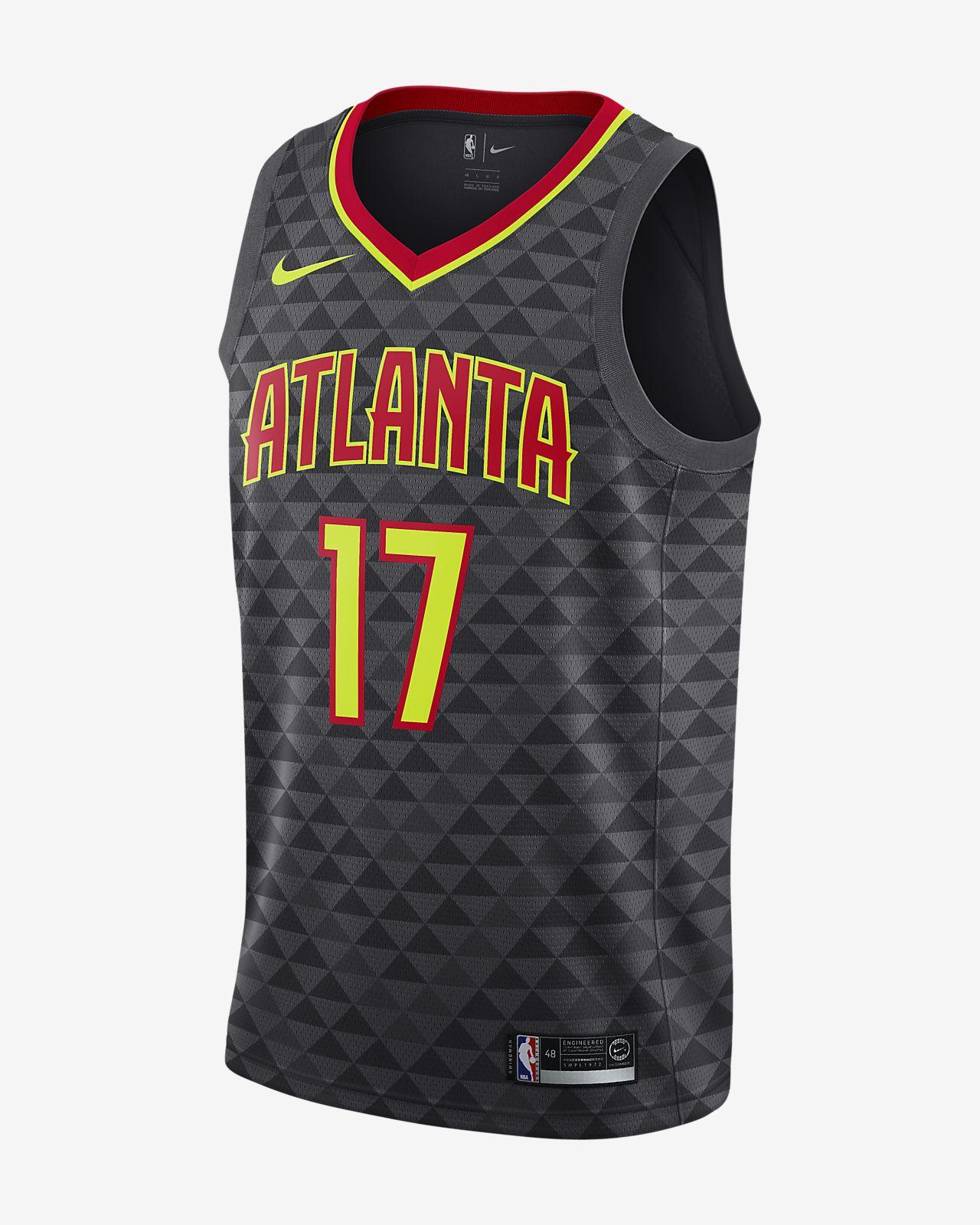 Maillot connecté Nike NBA Dennis Schröder Icon Edition Swingman (Atlanta Hawks) pour Homme