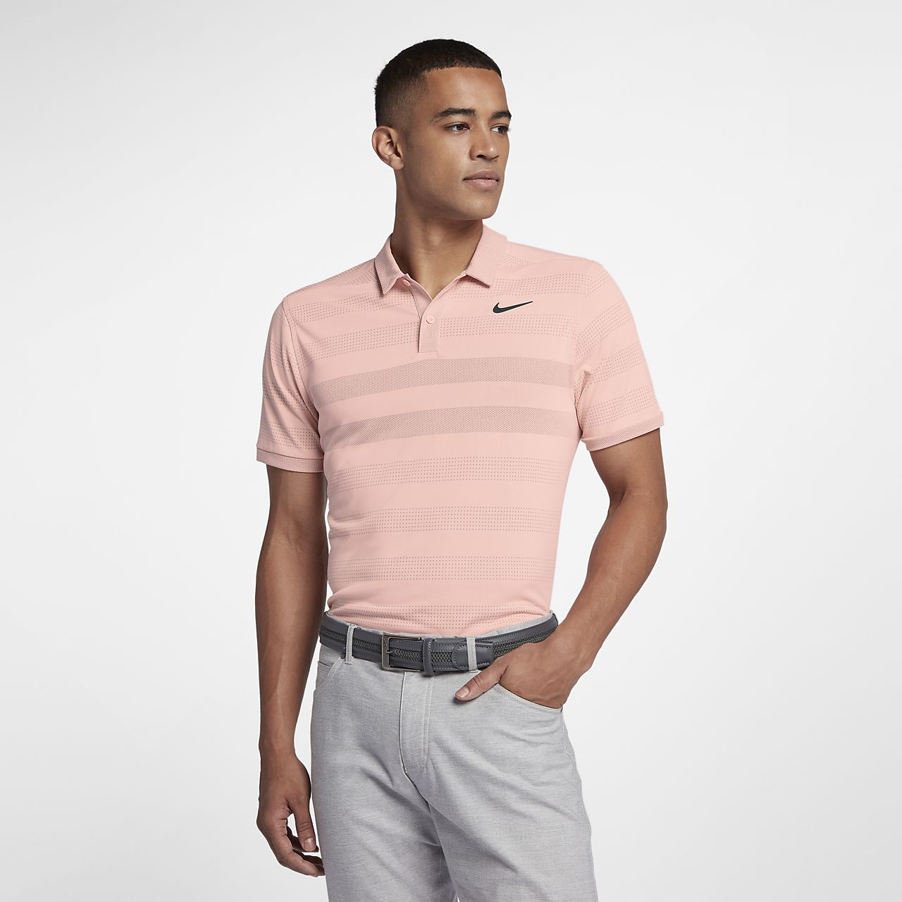 Nike Zonal Cooling Men's Striped Golf Polo