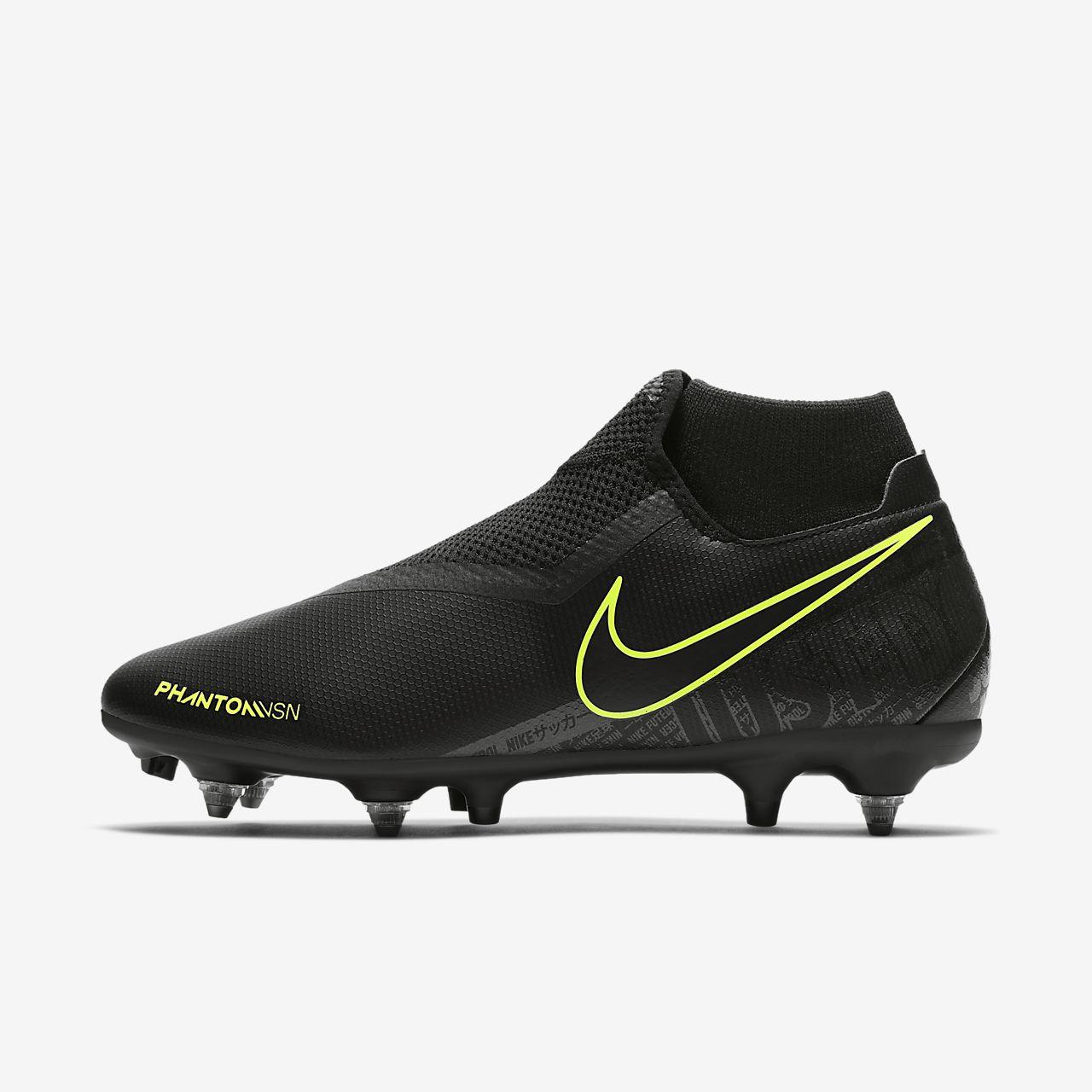 Chaussure de football à crampons pour terrain gras Nike PhantomVSN Academy Dynamic Fit SG-Pro Anti-Clog Traction