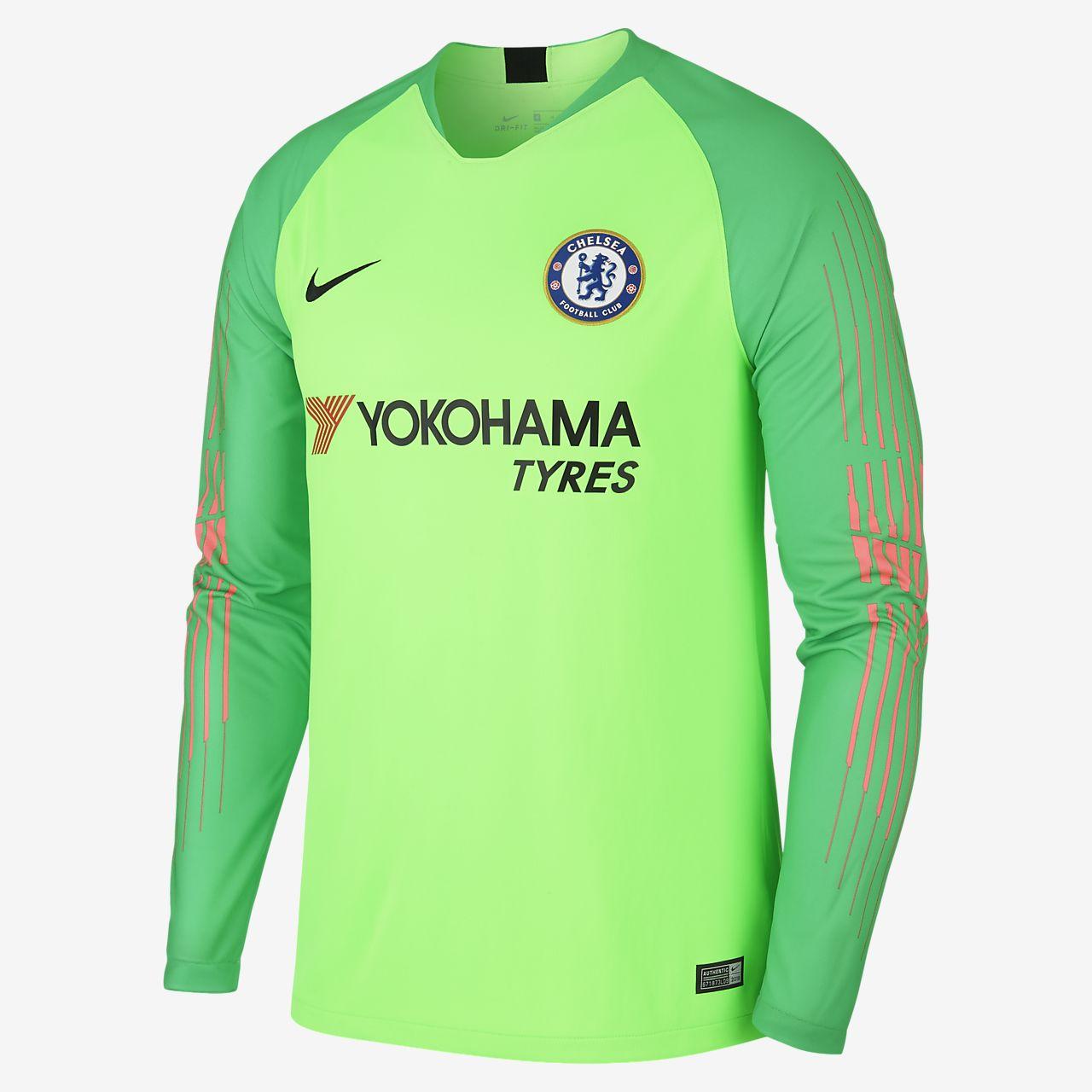 2018 19 Chelsea FC Stadium Goalkeeper Camiseta de fútbol de manga larga -  Hombre a573e7c1955bb
