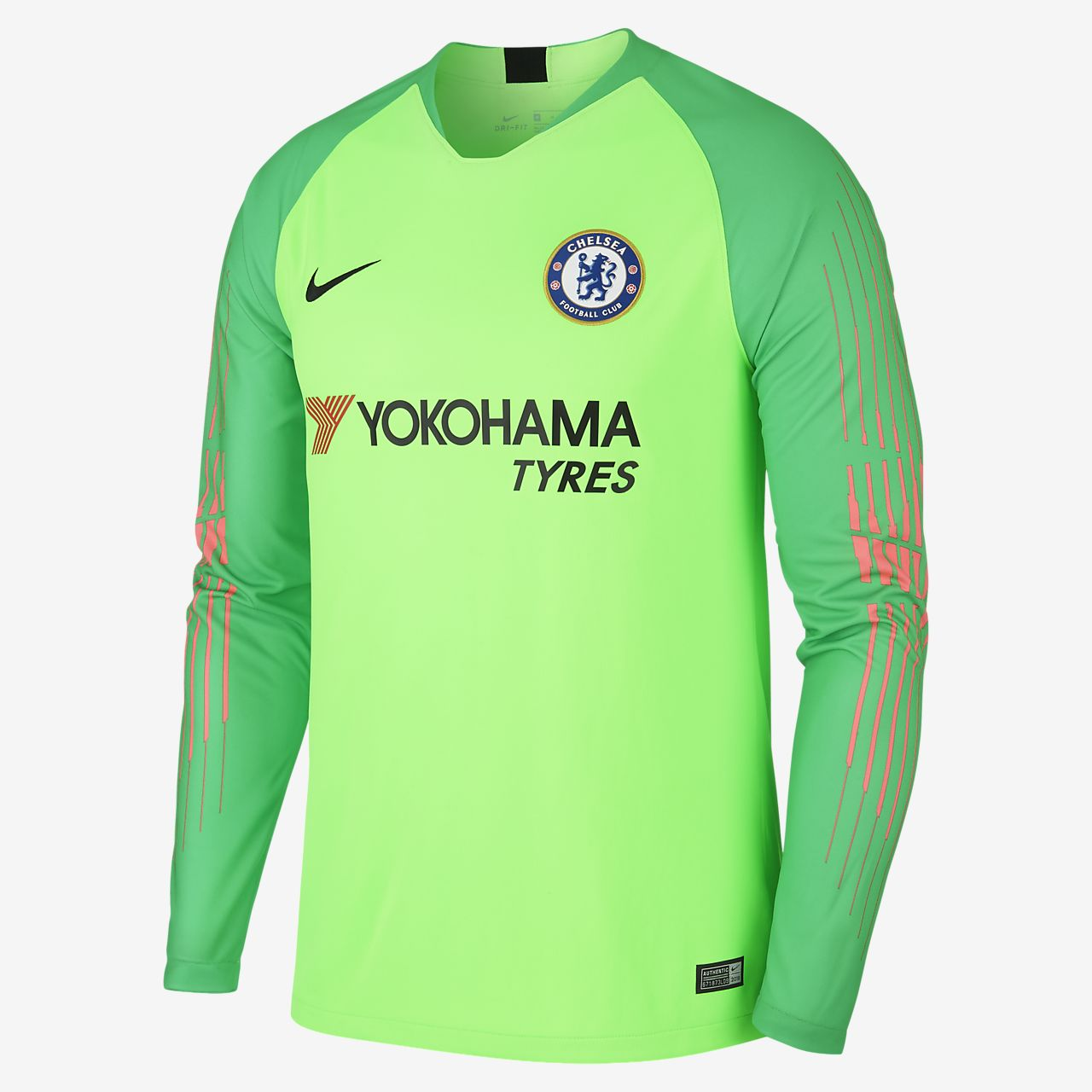 0326be6a5 2018 19 Chelsea FC Stadium Goalkeeper Men s Long-Sleeve Football ...