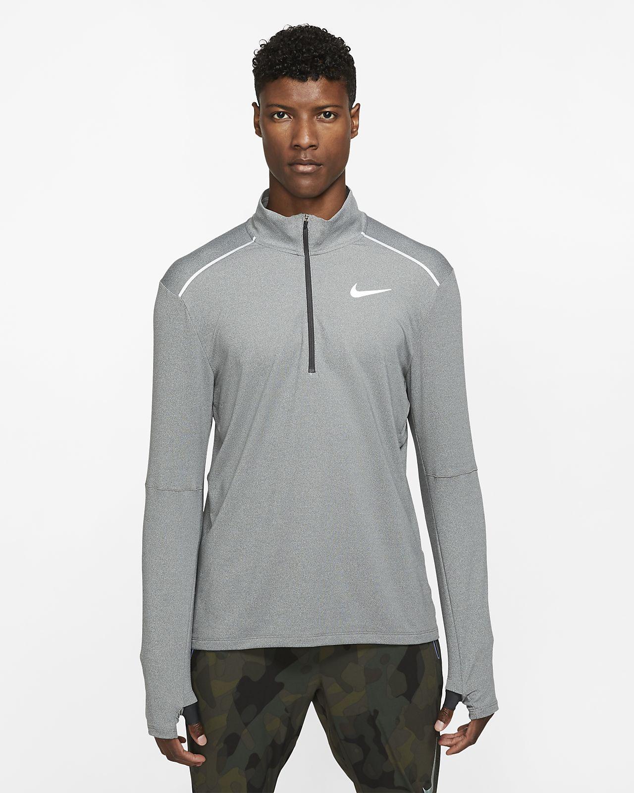 Löpartröja Nike Element 3.0 med rund hals och halv dragkedja för män