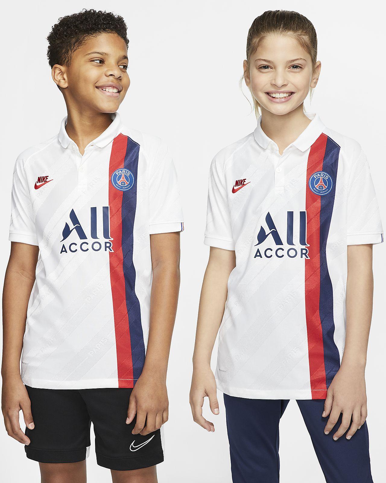 Camiseta de fútbol de visitante para niño talla grande Vapor Match del Paris Saint-Germain 2019/20