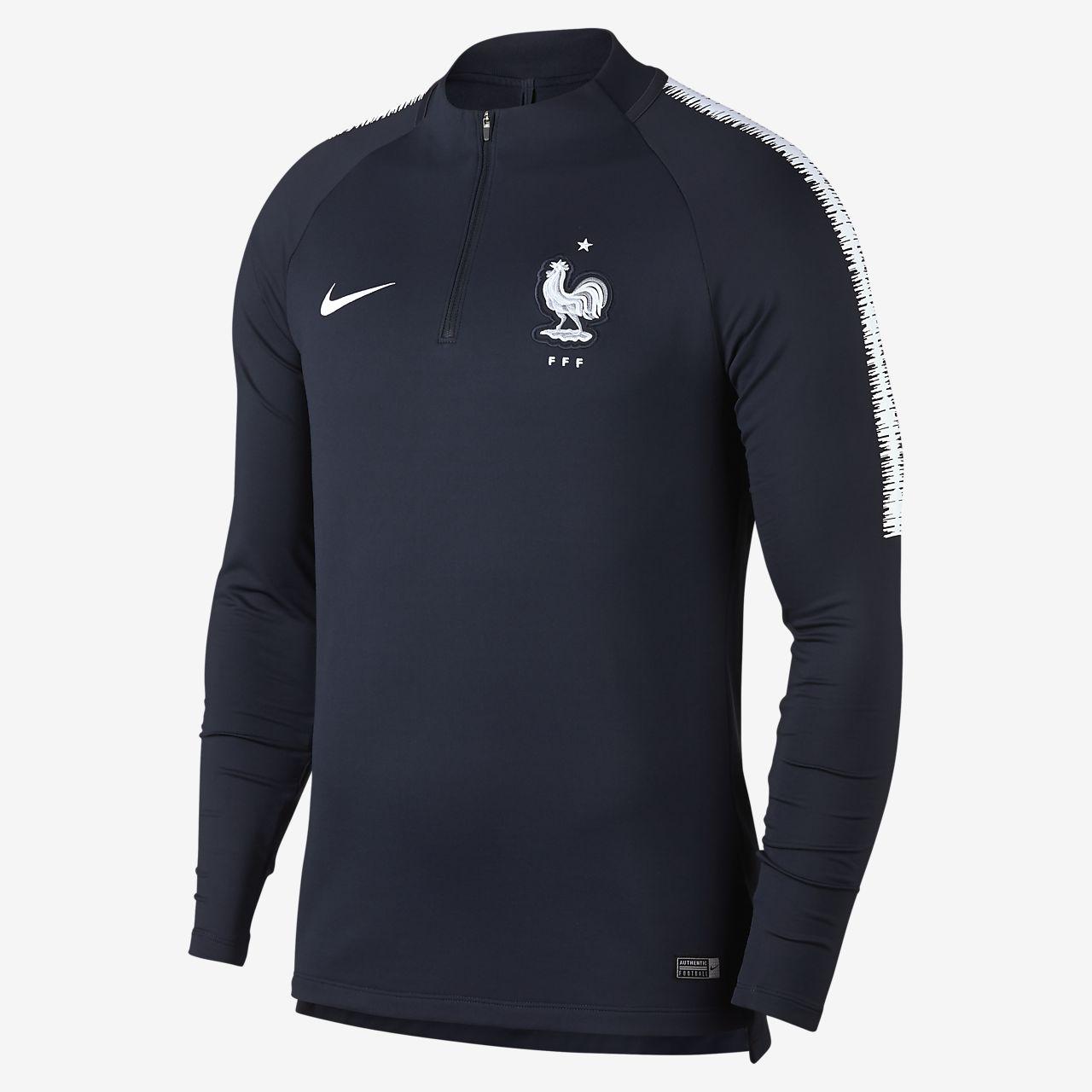 Męska koszulka piłkarska z długim rękawem FFF Dri-FIT Squad Drill