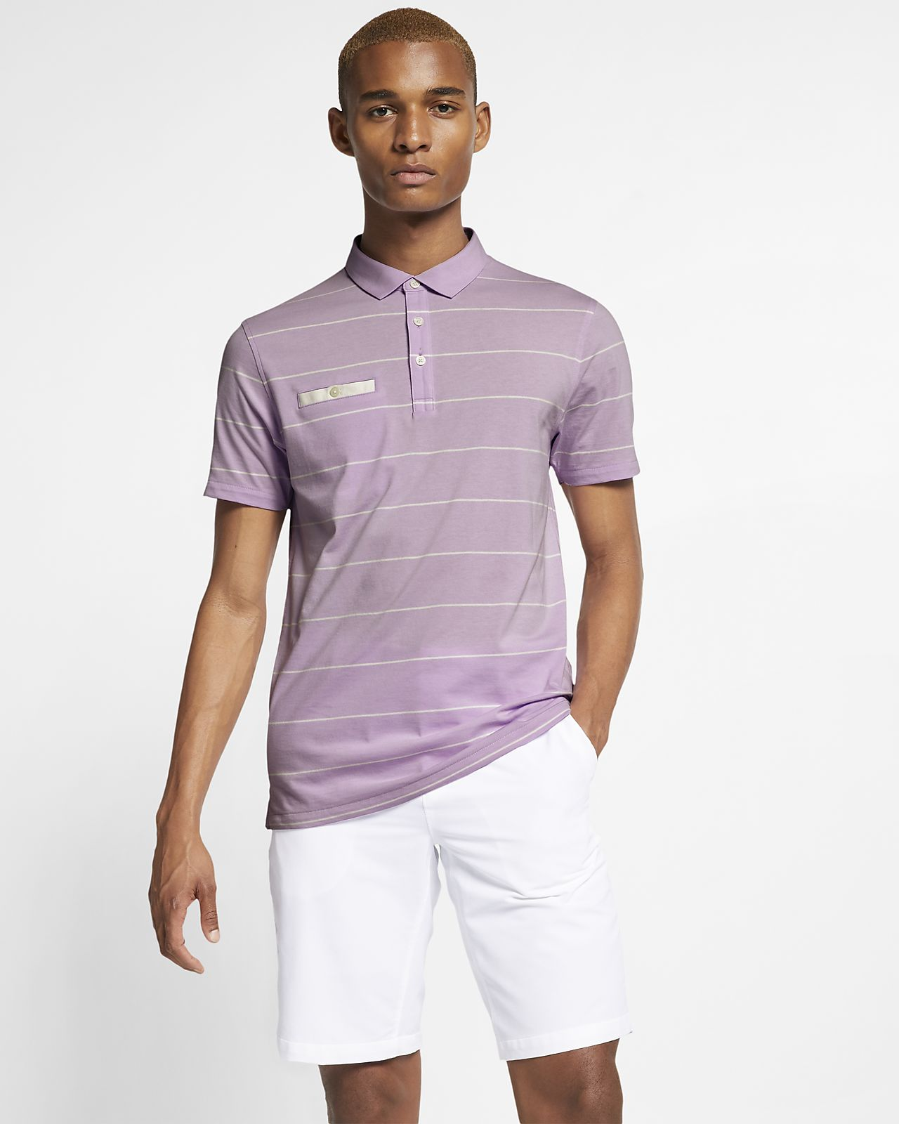 Polo da golf a righe Nike Dri-FIT Player - Uomo