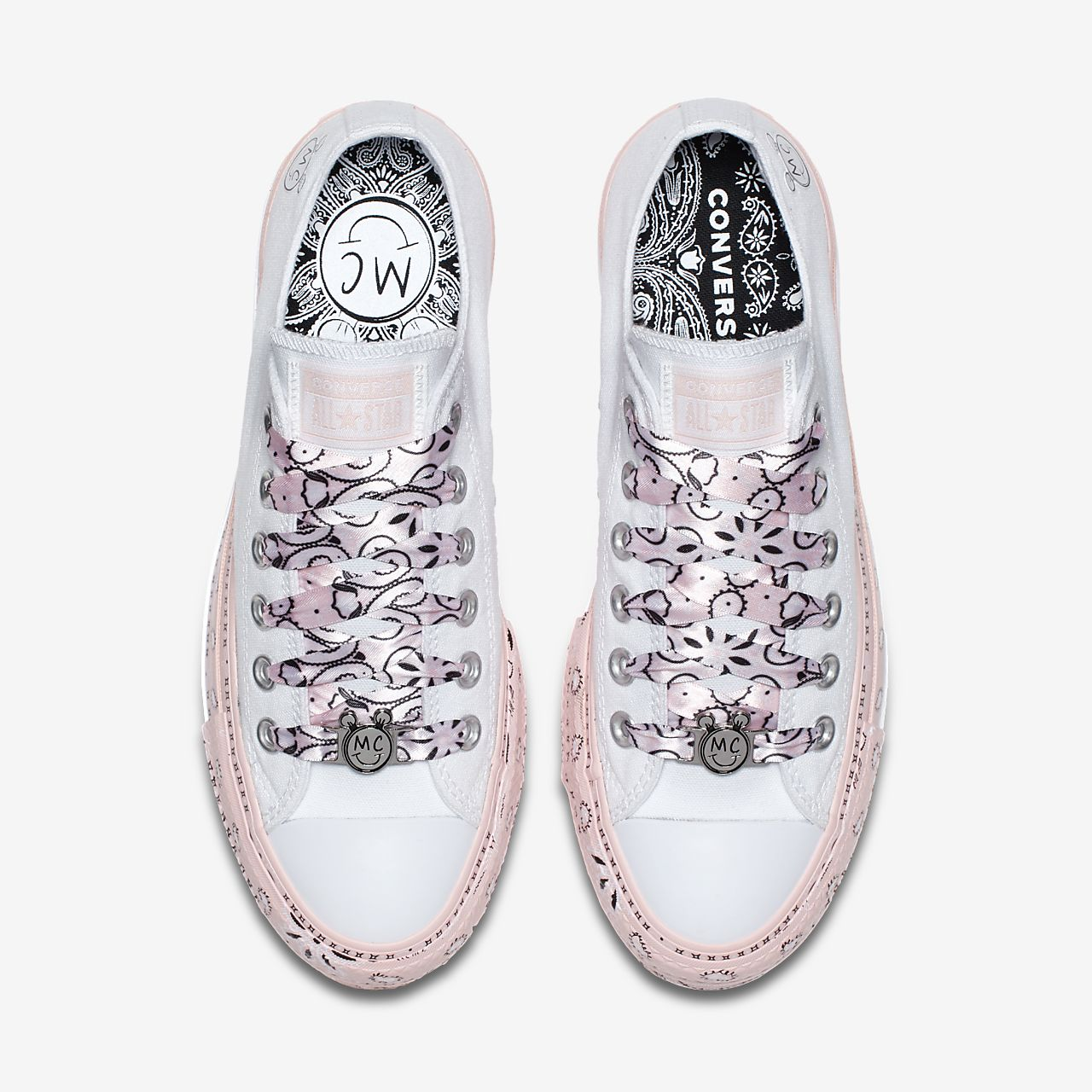 Converse Women's X Miley Cyrus Chuck Taylor All Star Glitter Low Top Sneaker 4fVVfzyk