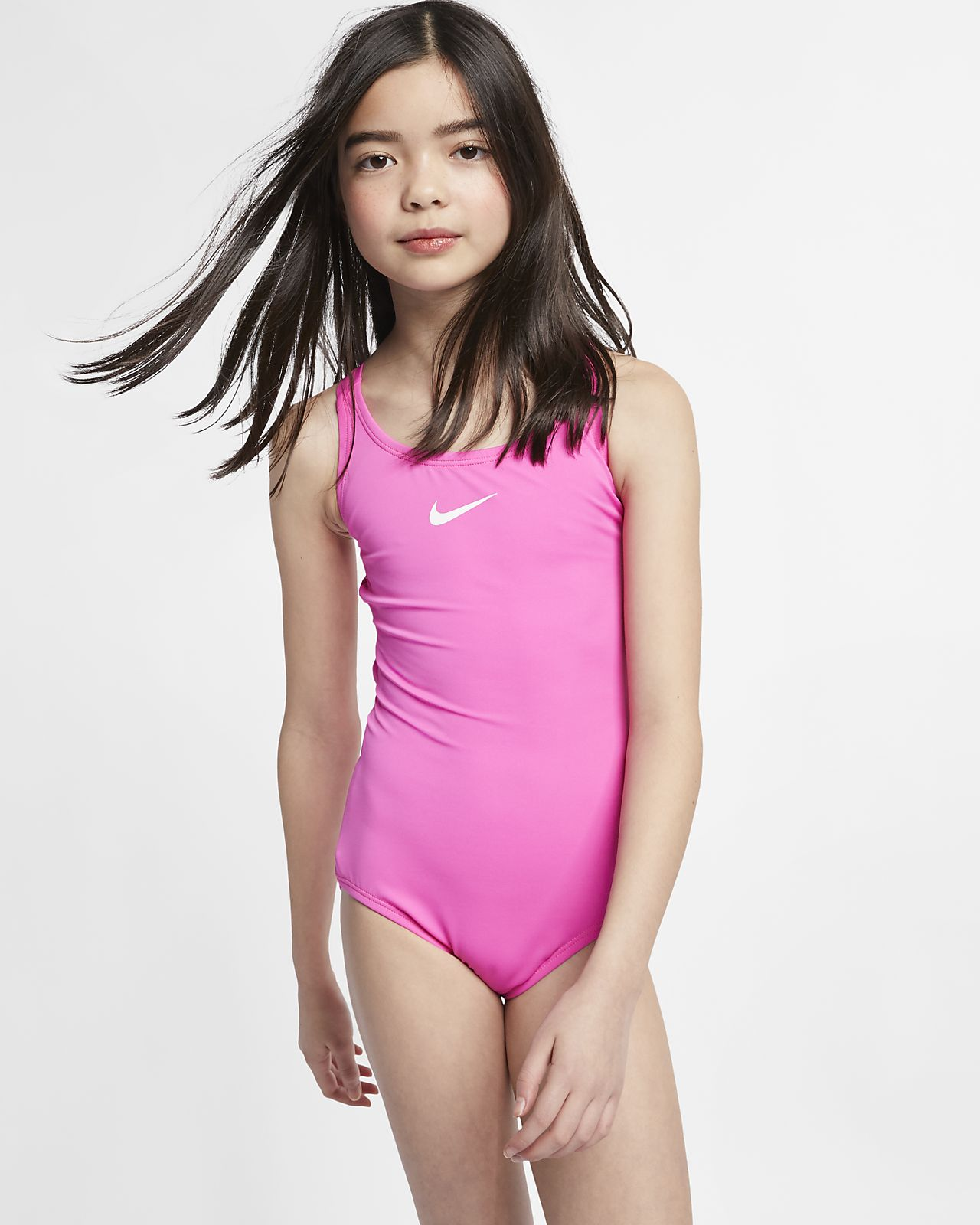 Nike Solid Racerback Big Kids' (Girls') Two-Piece Swimsuit