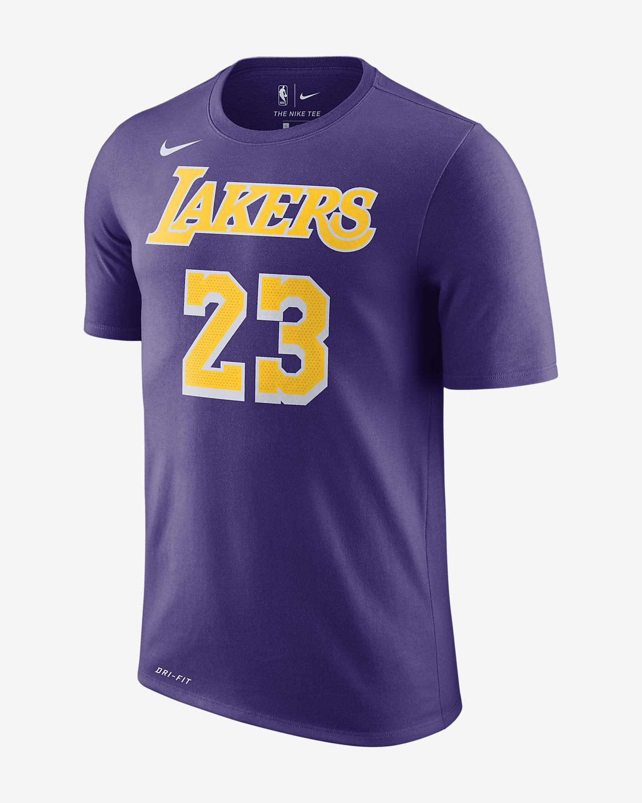 LeBron James Los Angeles Lakers Nike Dri-FIT NBA-T-shirt til mænd