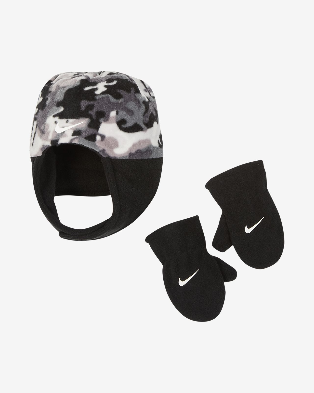Nike Baby Hat and Mittens Set