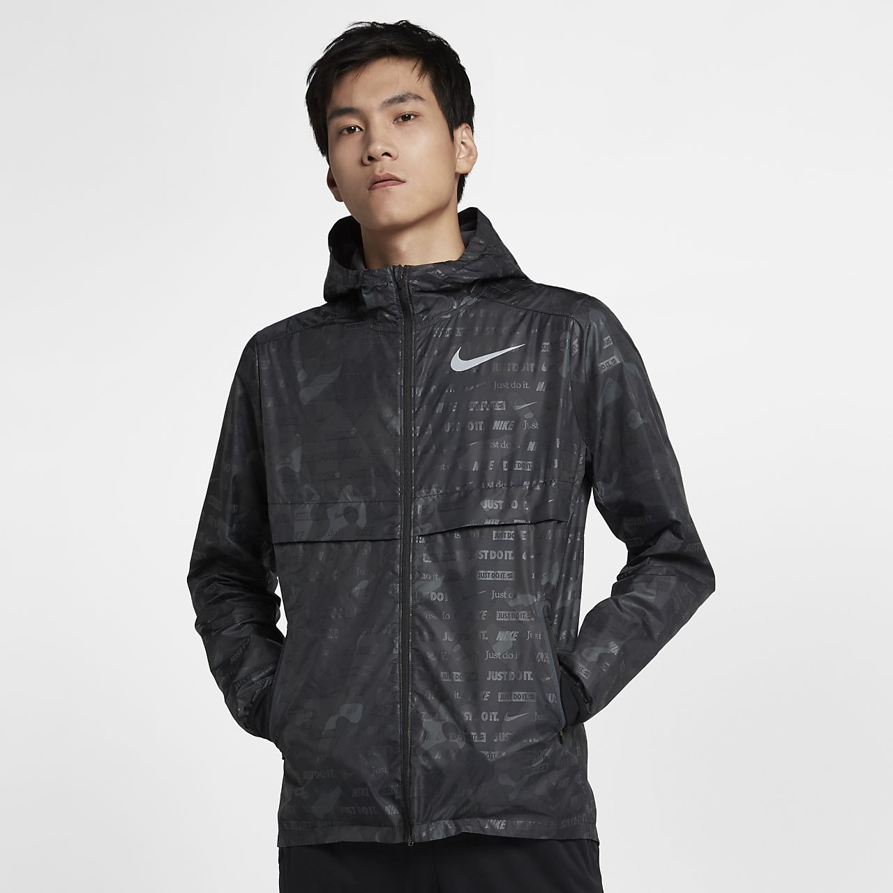cheaper a66a3 e87dd ... Nike Shield Ghost Flash Men s Running Jacket