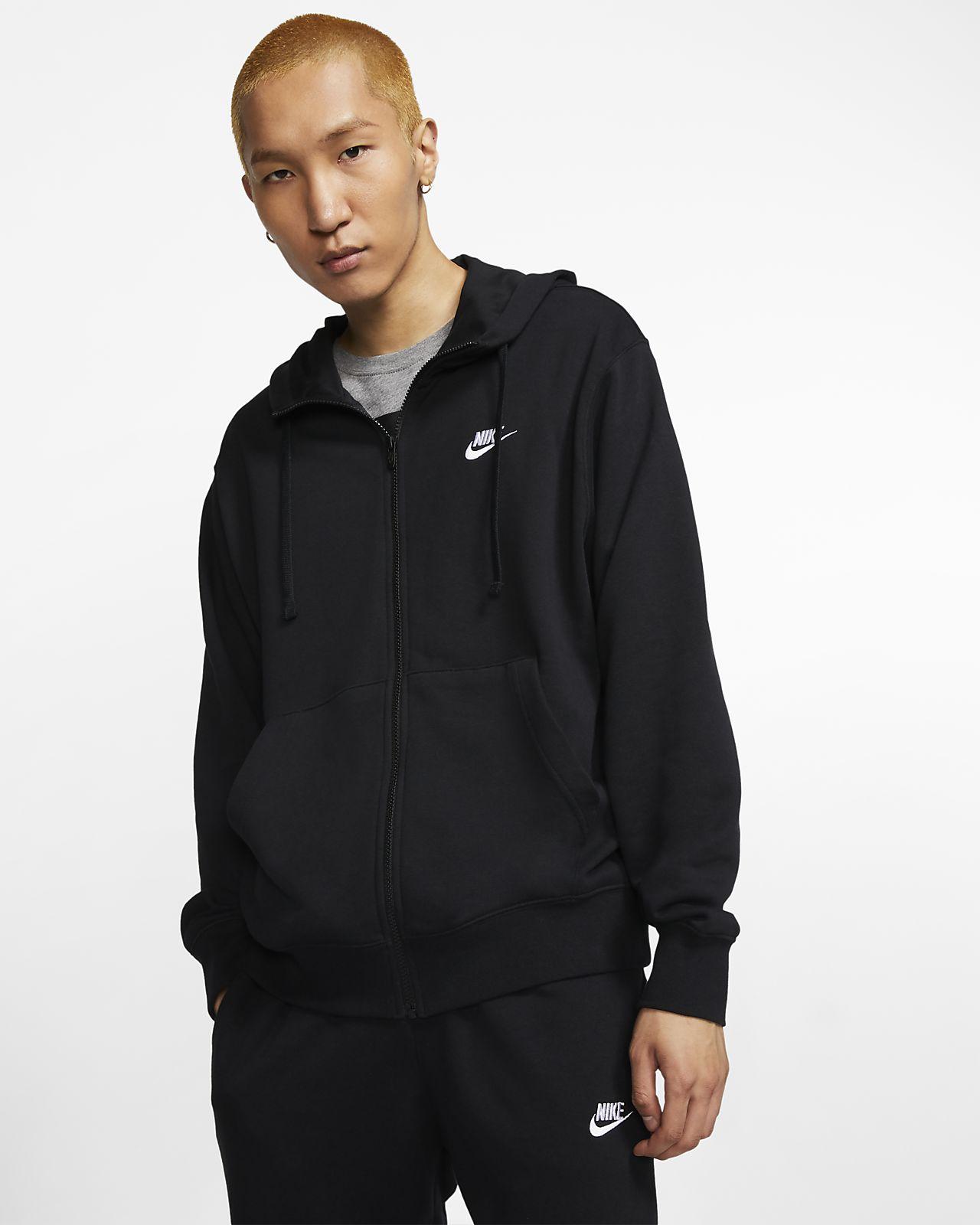 Nike Sportswear Club-hættetrøje med lynlås til mænd