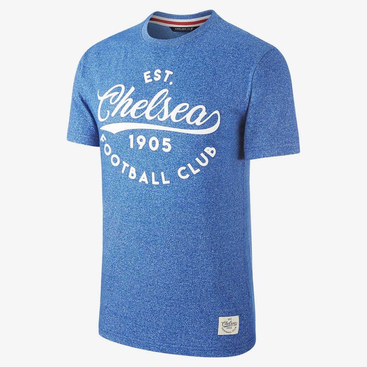 T shirt męski z wypukłym logo Chelsea FC Heritage