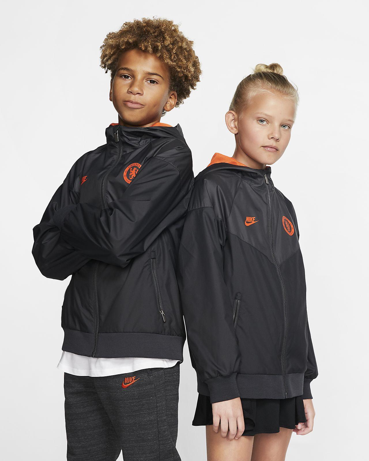 Chelsea FC Windrunner vævet jakke til store børn