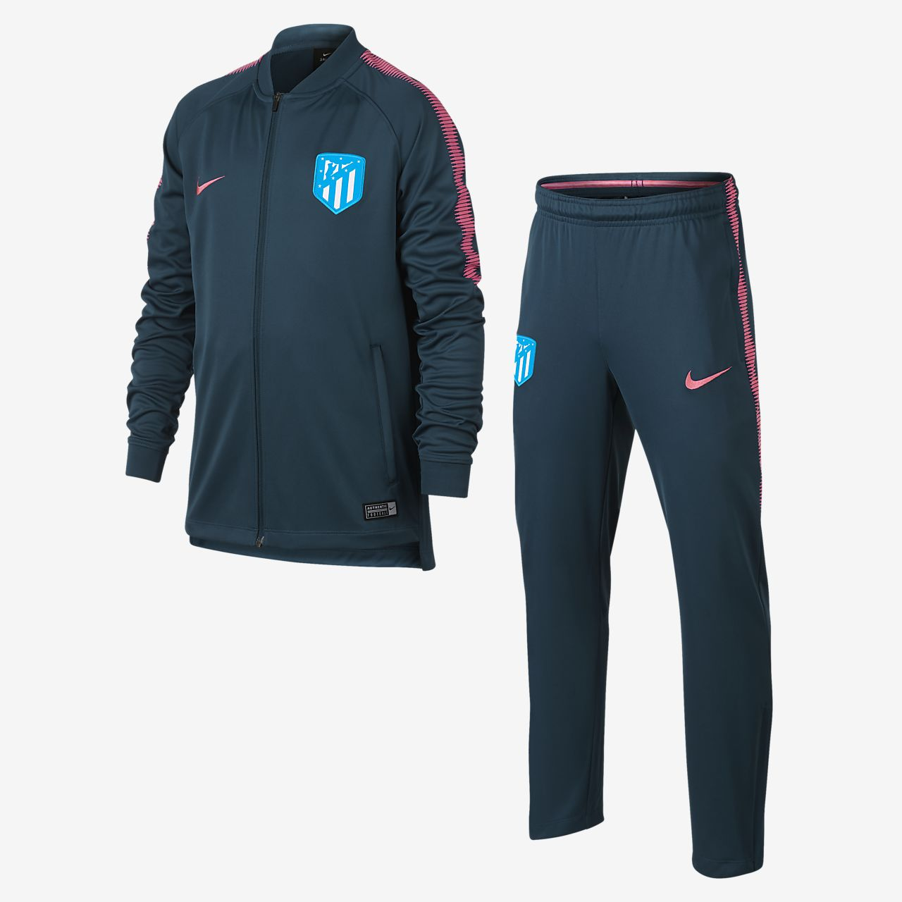 Conjunto de entrenamiento de fútbol para niños talla grande Atlético de Madrid Dri-FIT Squad