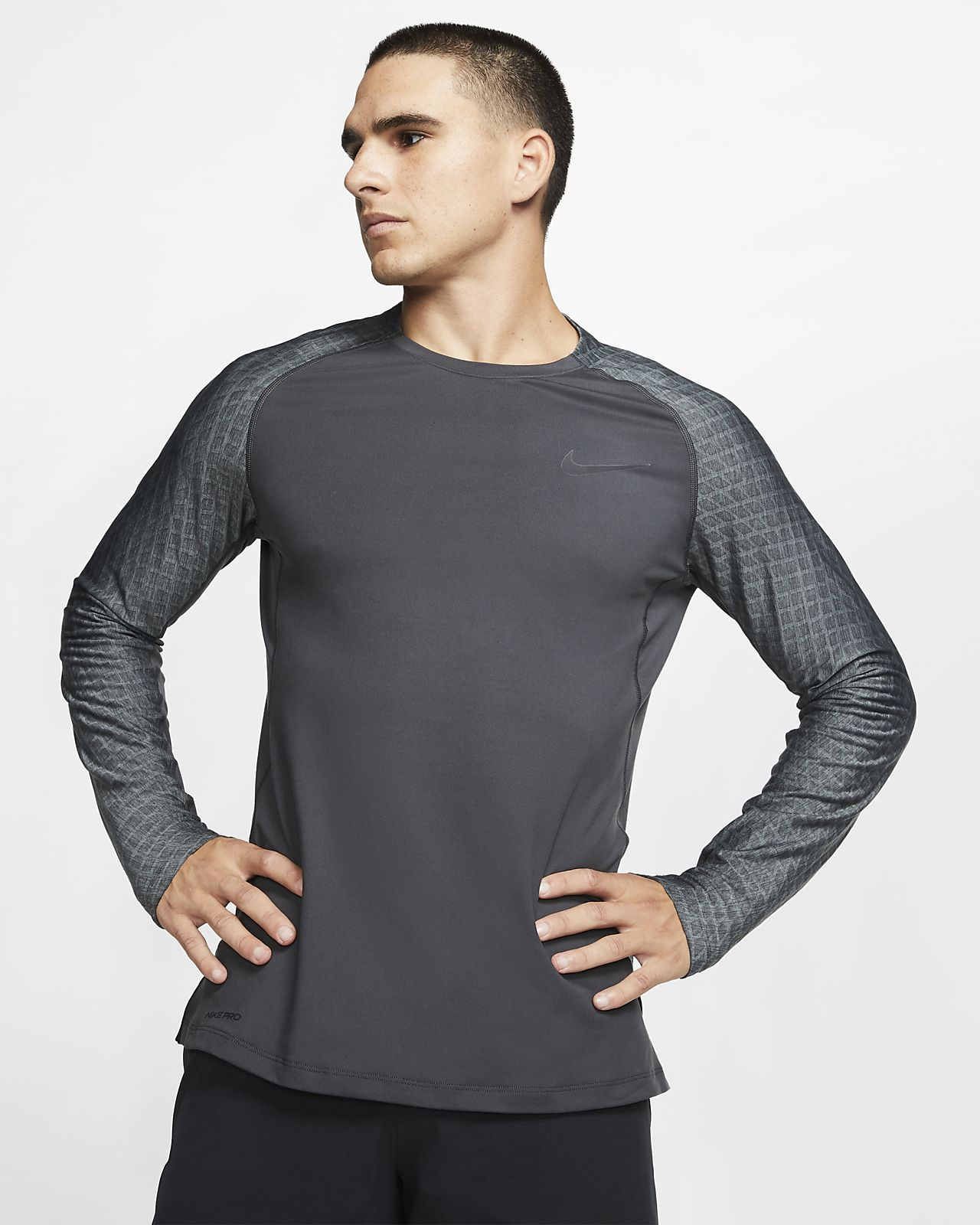 Nike Pro Langarm-Trainingsoberteil für Herren