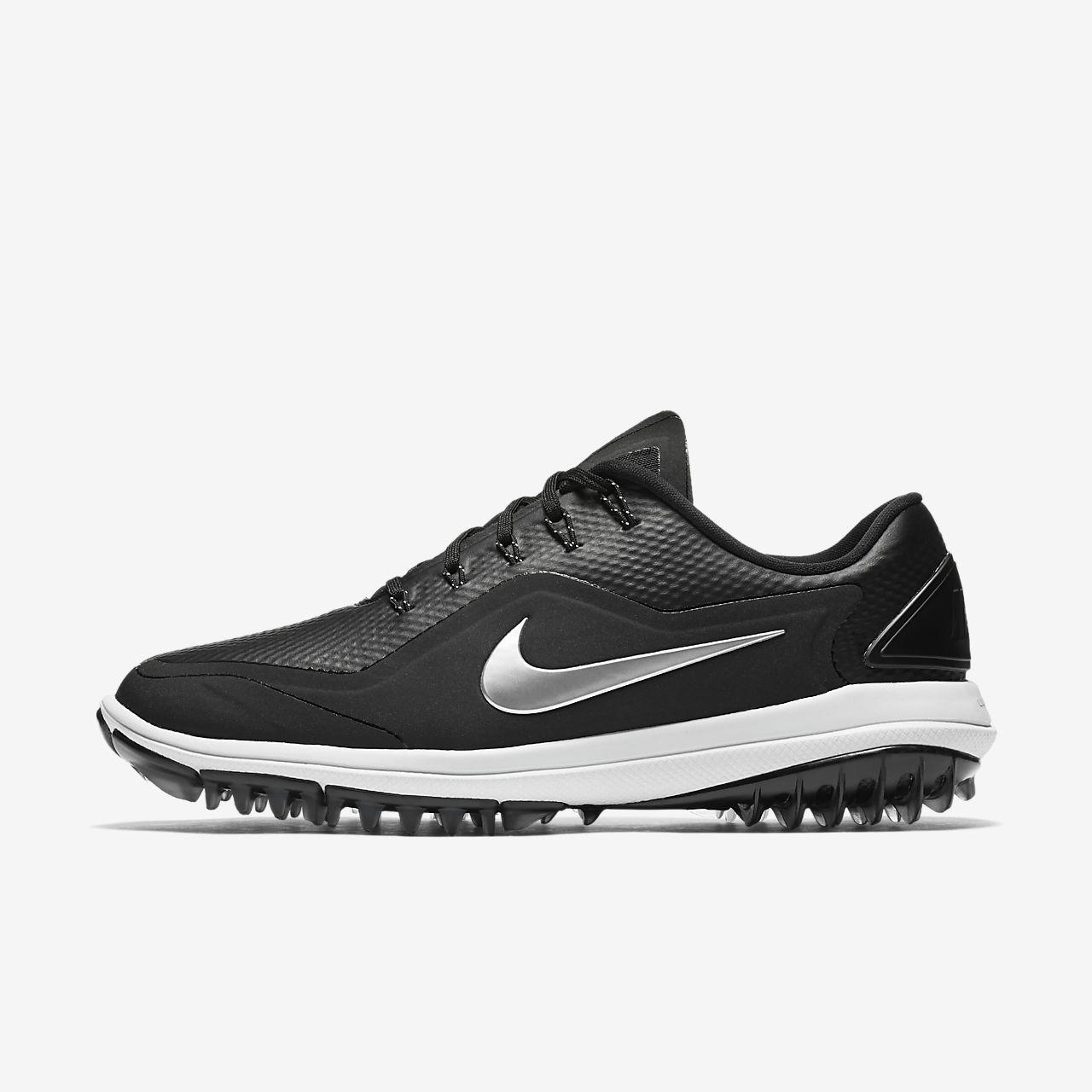 Nike Damen Lunar Control Vapor Golfschuhe, Schwarz (Black/Metallic Silver/White), 40 EU