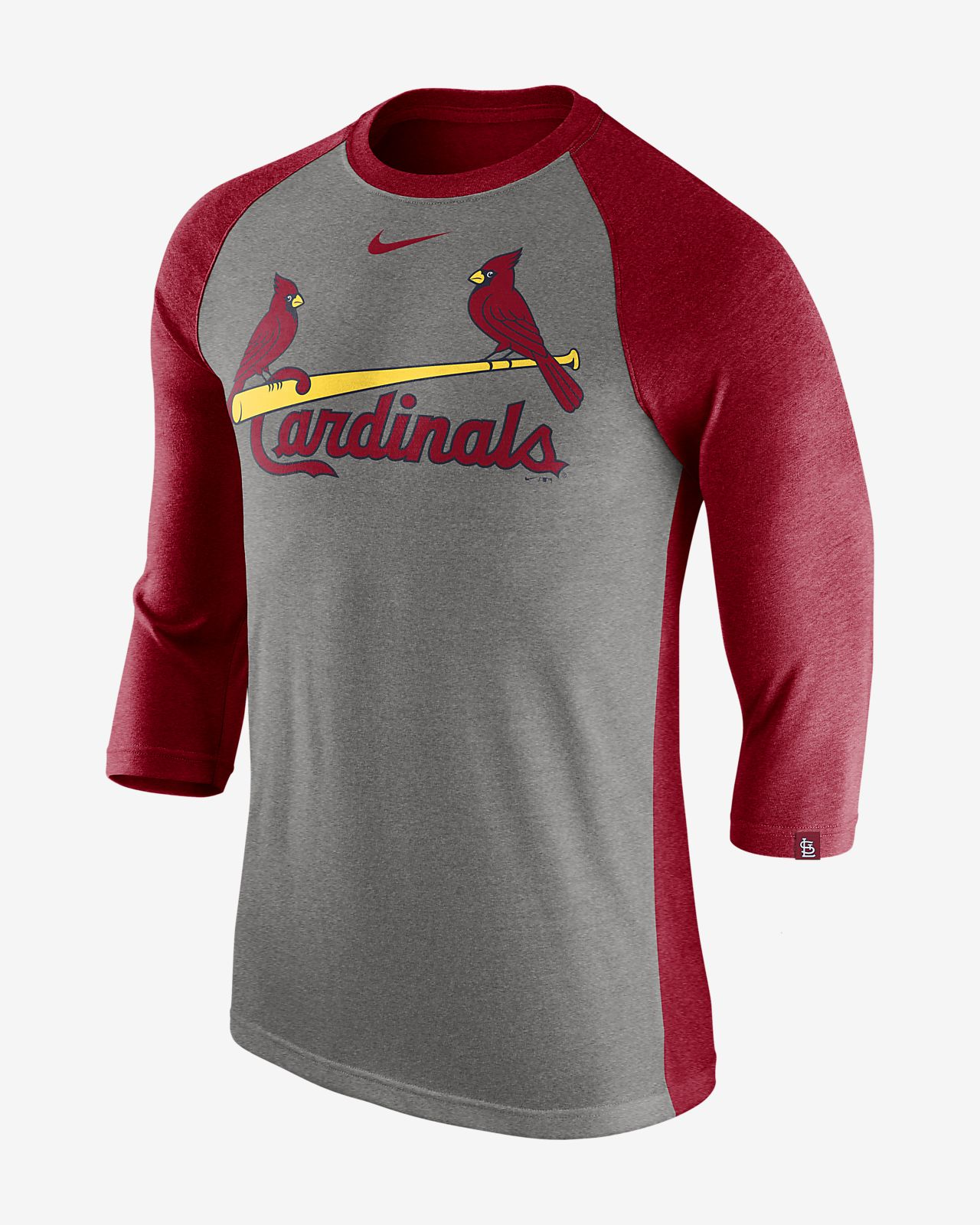 937434e7 Nike Tri-Blend (MLB Cardinals) Men's 3/4-Sleeve T-Shirt. Nike.com