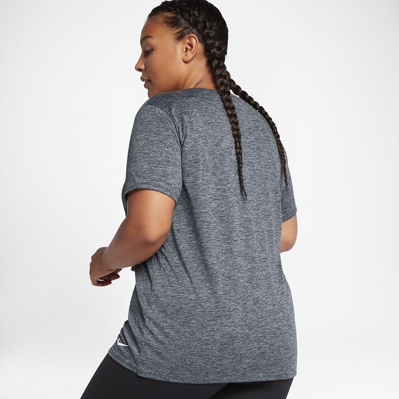 nike dry legend (plus size) women's short sleeve training top