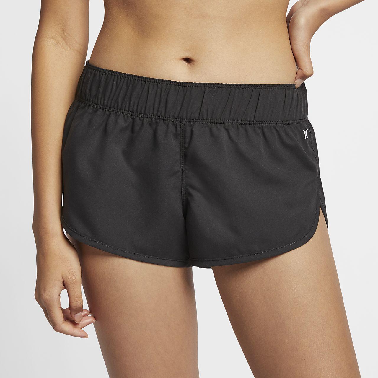 Nike Womens Boardshorts - Nike Hurley Supersuede Printed Beachrider Black Y50i5314