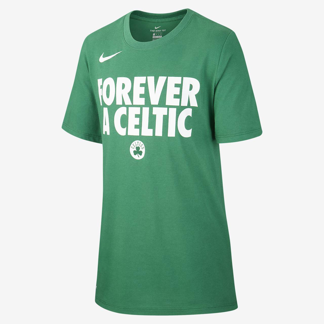 Boston Celtics Nike Dri-FIT-NBA-T-shirt til drenge