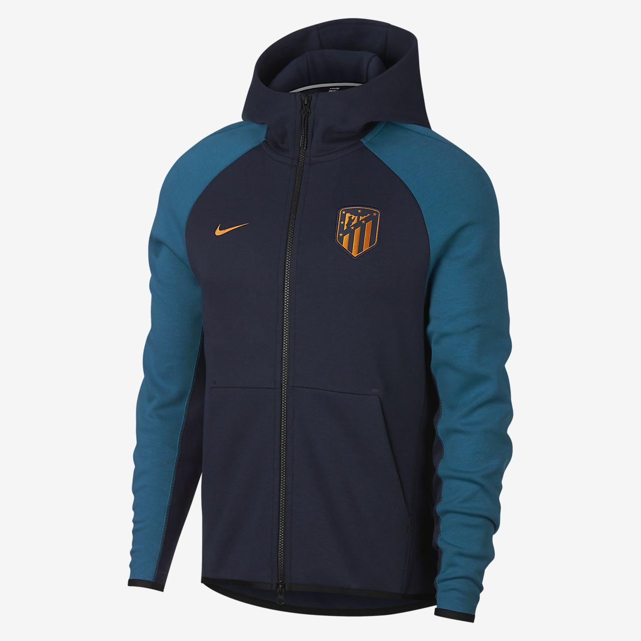 Sudadera con capucha de cierre completo para hombre Atletico de Madrid Tech  Fleece ae0634ec8ccf6